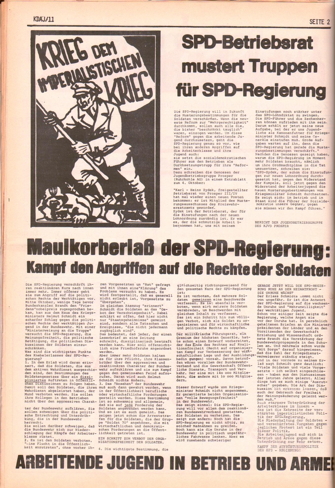 KDAJ, 2. Jg., November 1971, Nr. 11, Seite 2