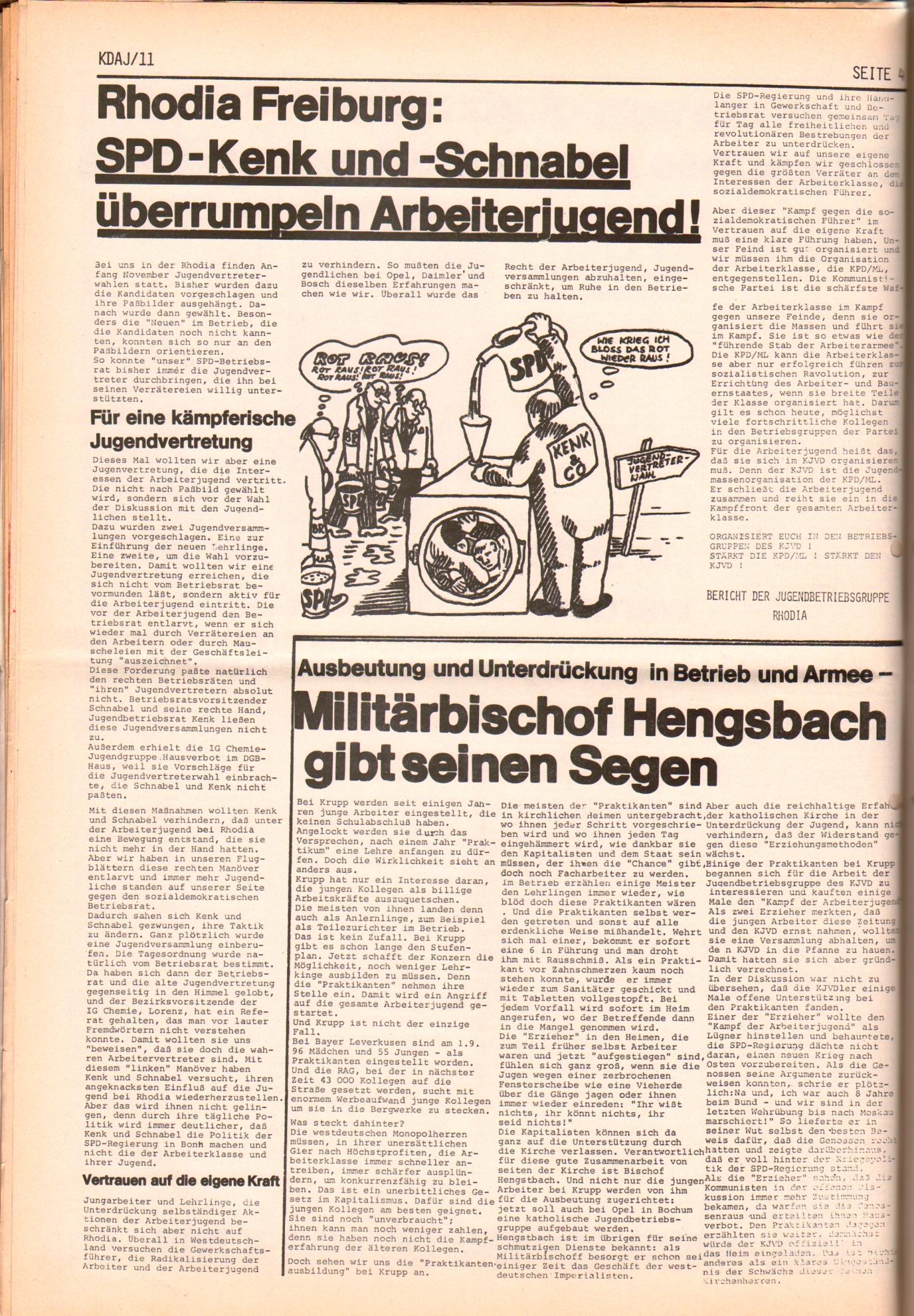 KDAJ, 2. Jg., November 1971, Nr. 11, Seite 4