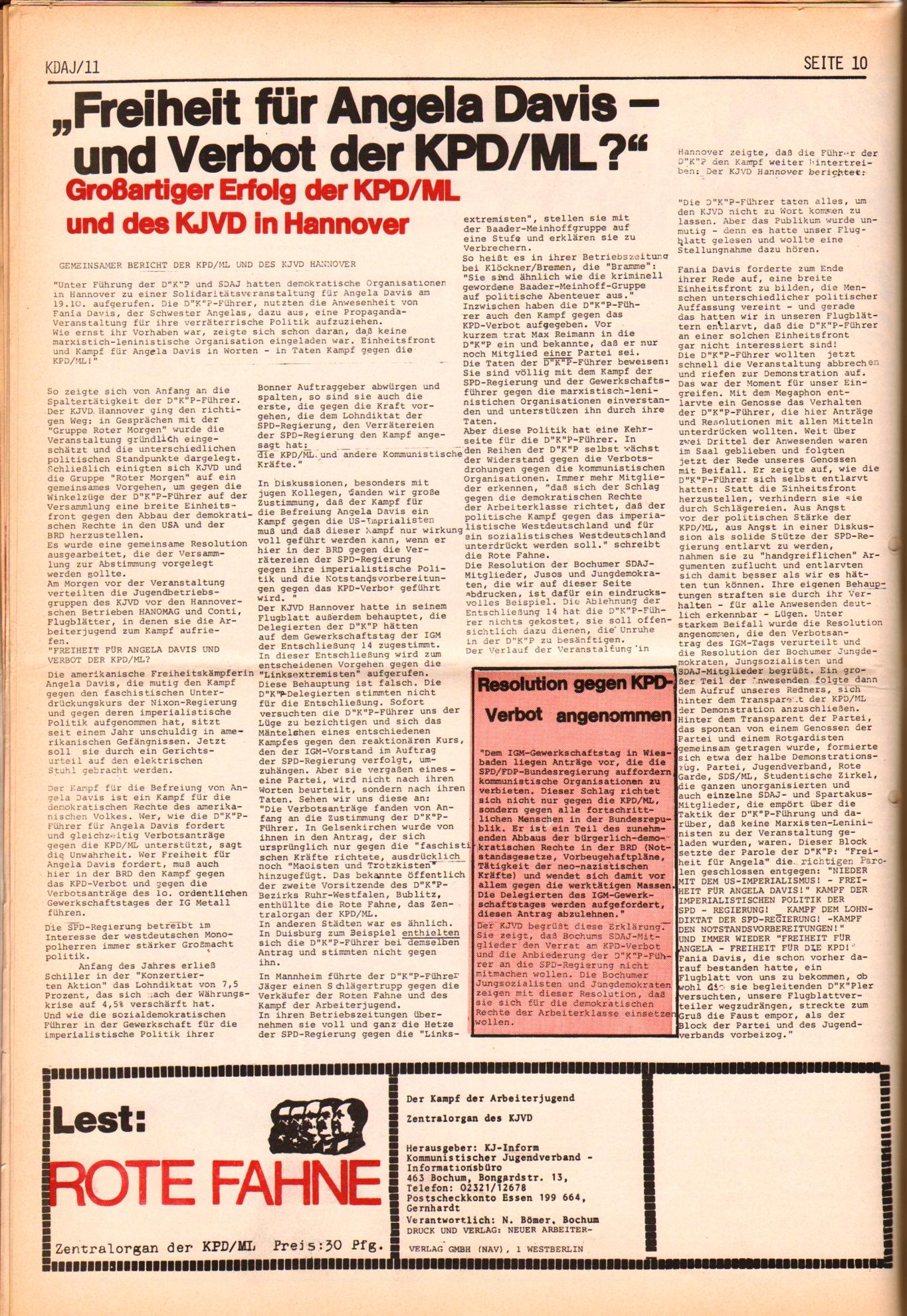 KDAJ, 2. Jg., November 1971, Nr. 11, Seite 10