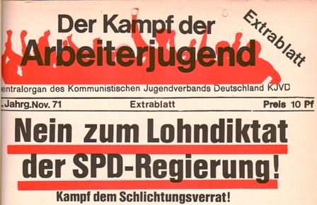 KDAJ, 1971, Extrablatt, Seite 1 oben