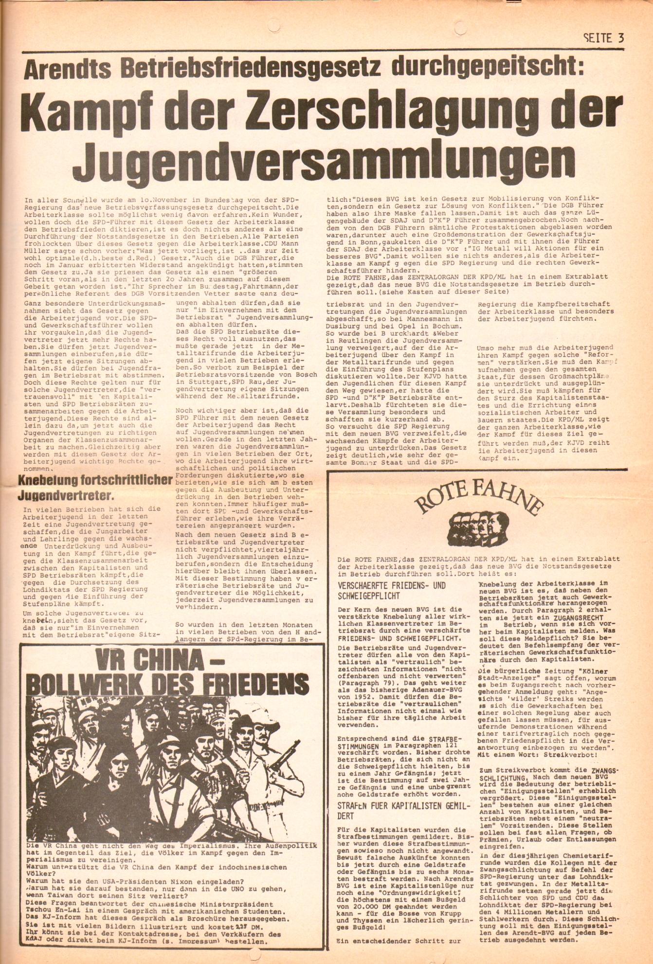 KDAJ, 2. Jg., November 1971, Extrablatt, Seite 3