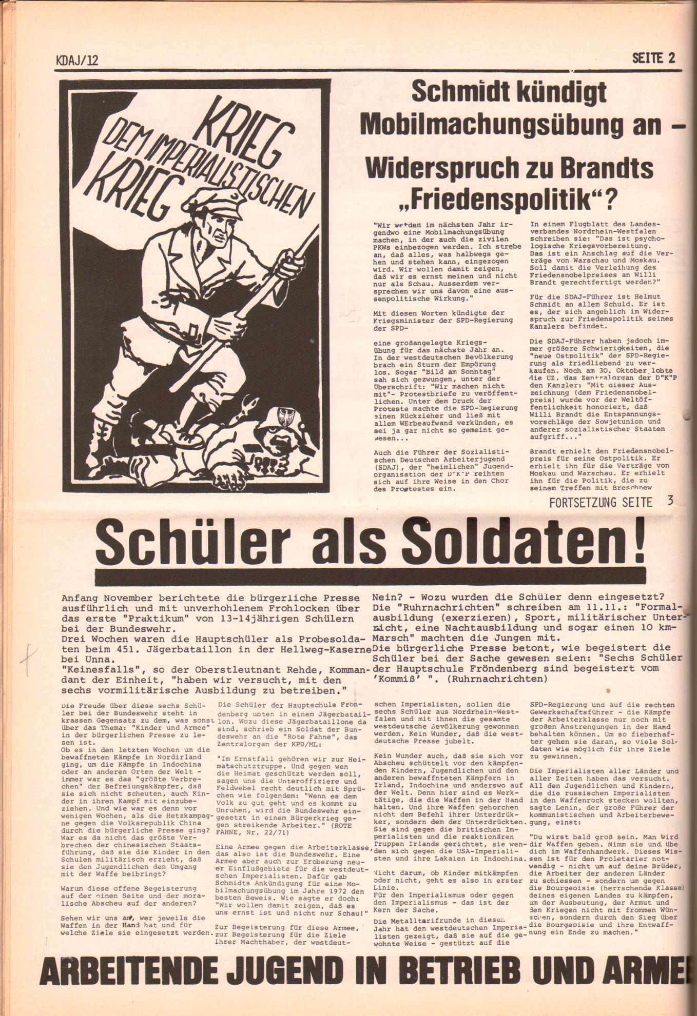 KDAJ, 2. Jg., Dezember 1971, Nr. 12, Seite 2