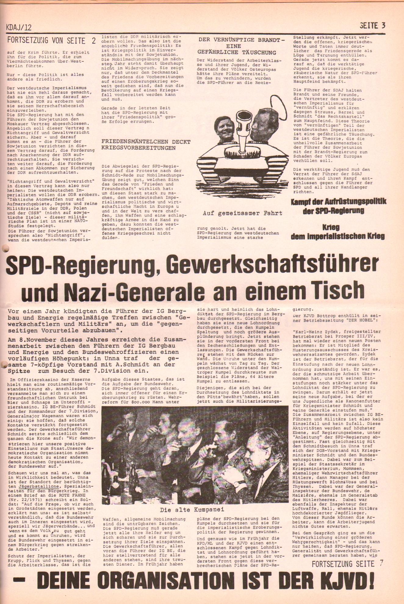 KDAJ, 2. Jg., Dezember 1971, Nr. 12, Seite 3