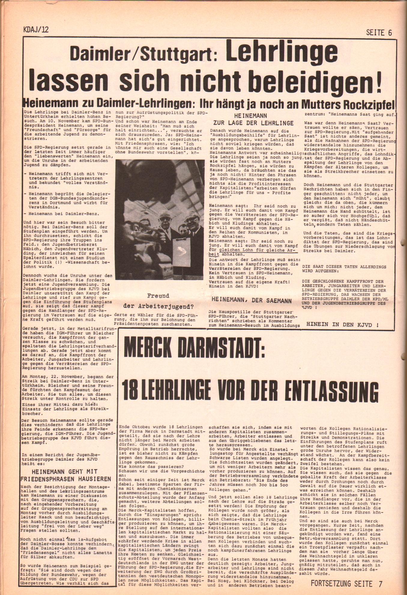 KDAJ, 2. Jg., Dezember 1971, Nr. 12, Seite 6