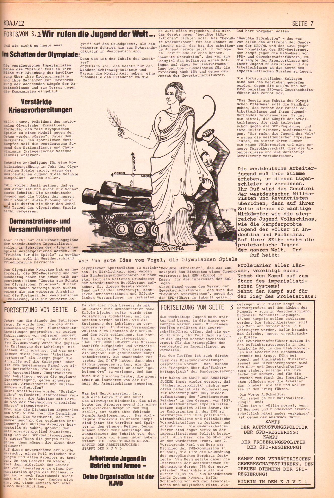 KDAJ, 2. Jg., Dezember 1971, Nr. 12, Seite 7