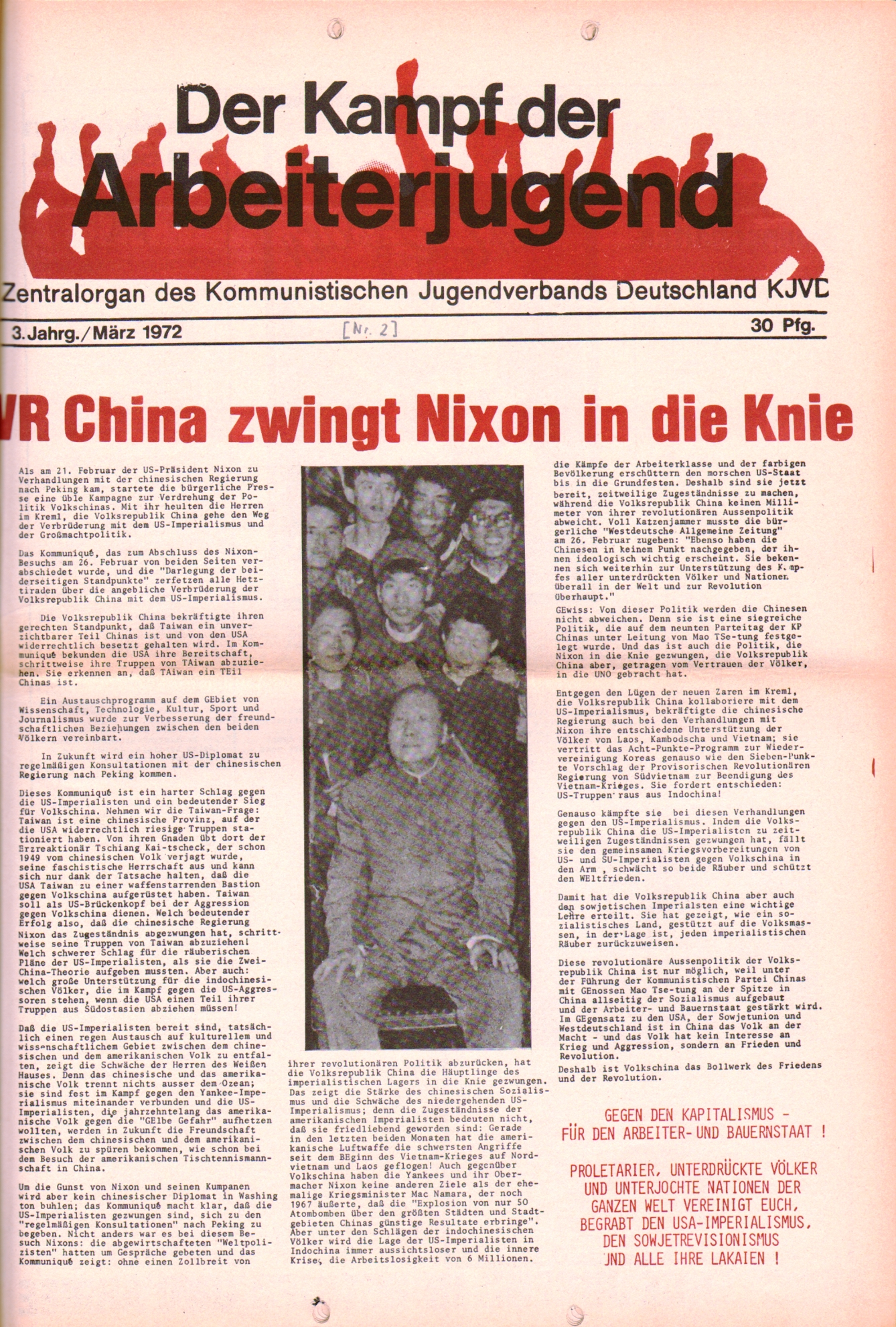 KDAJ, 3. Jg., März 1972, Nr. 2, Seite 1