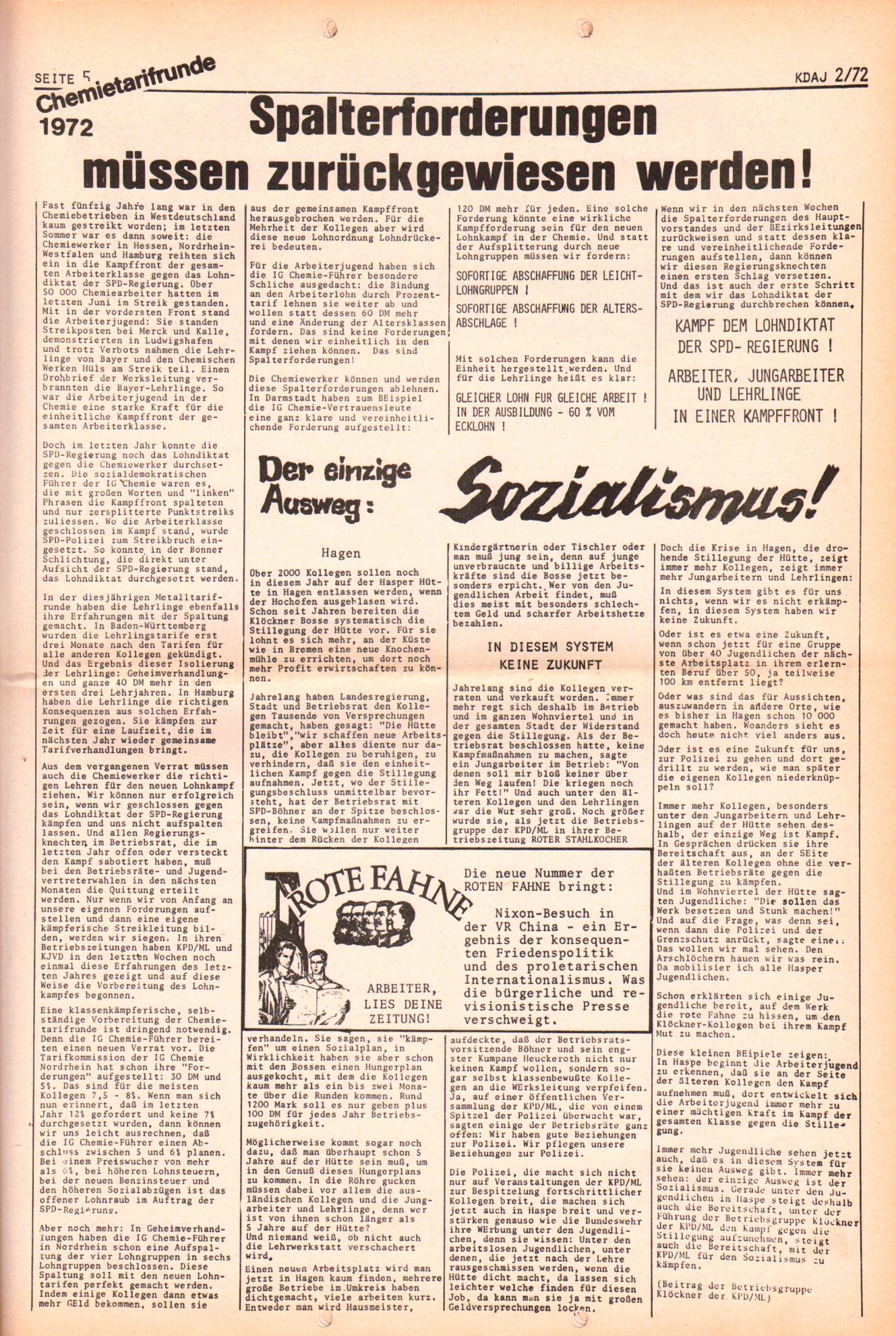 KDAJ, 3. Jg., März 1972, Nr. 2, Seite 5