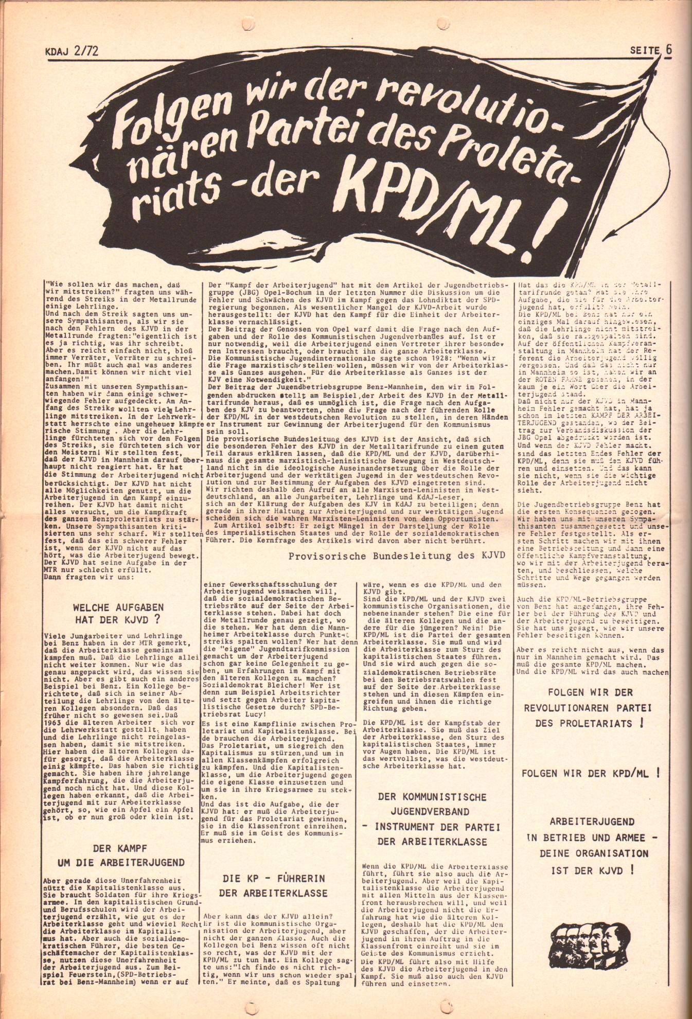 KDAJ, 3. Jg., März 1972, Nr. 2, Seite 6