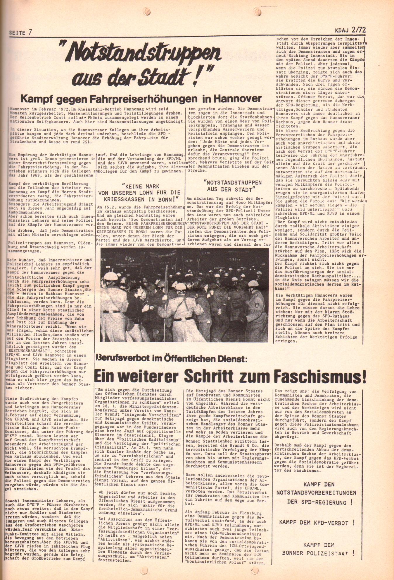 KDAJ, 3. Jg., März 1972, Nr. 2, Seite 7