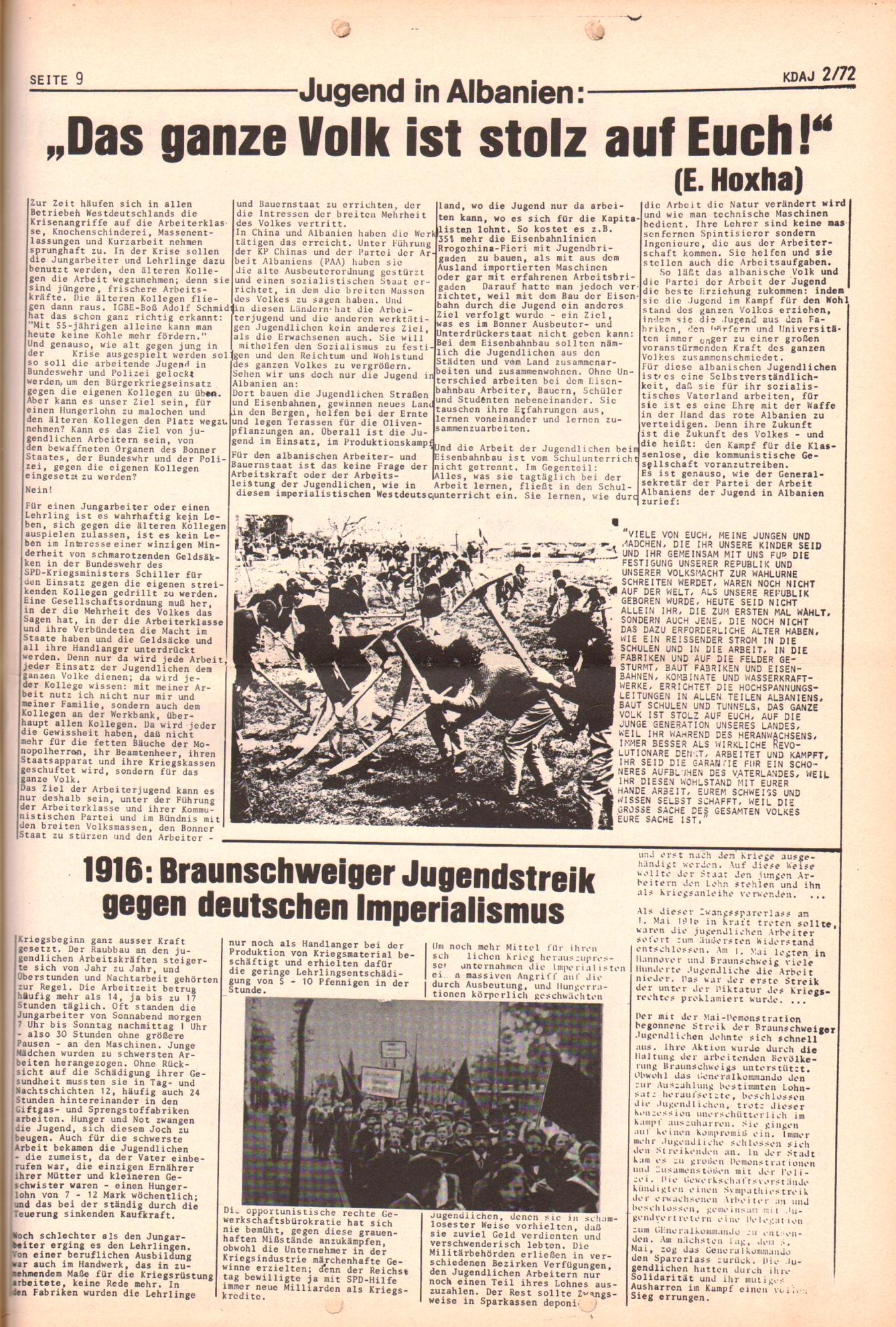 KDAJ, 3. Jg., März 1972, Nr. 2, Seite 9