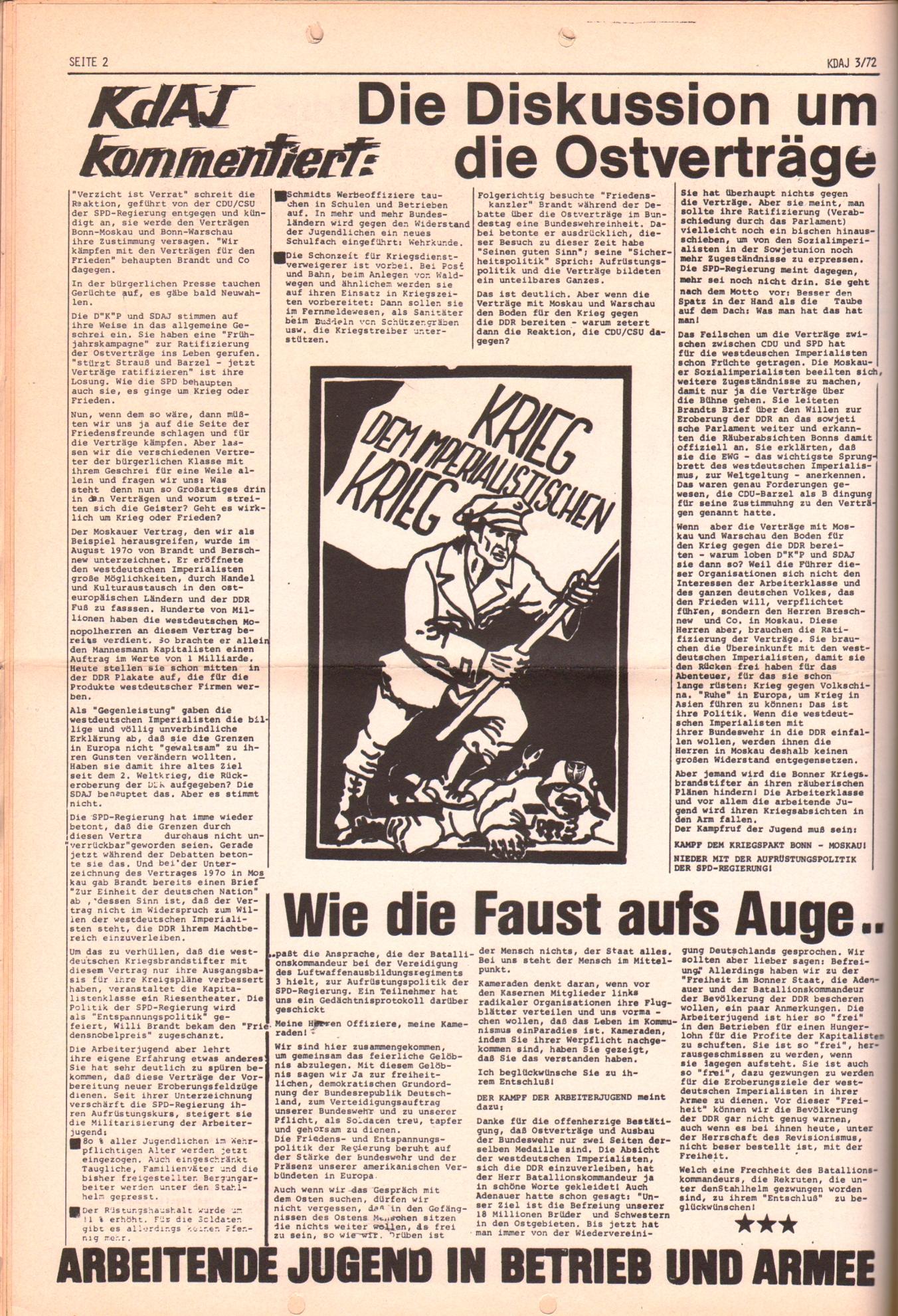 KDAJ, 3. Jg., April 1972, Nr. 3, Seite 2