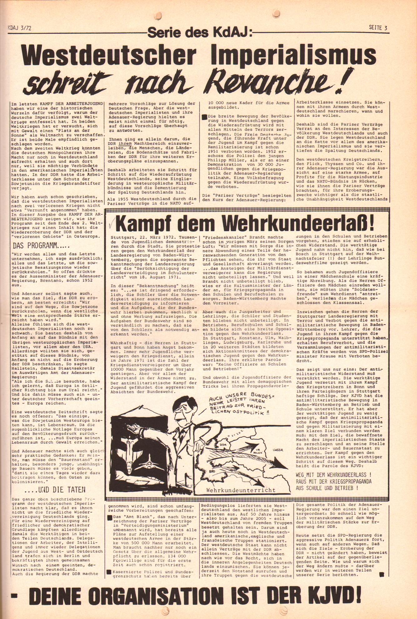 KDAJ, 3. Jg., April 1972, Nr. 3, Seite 3