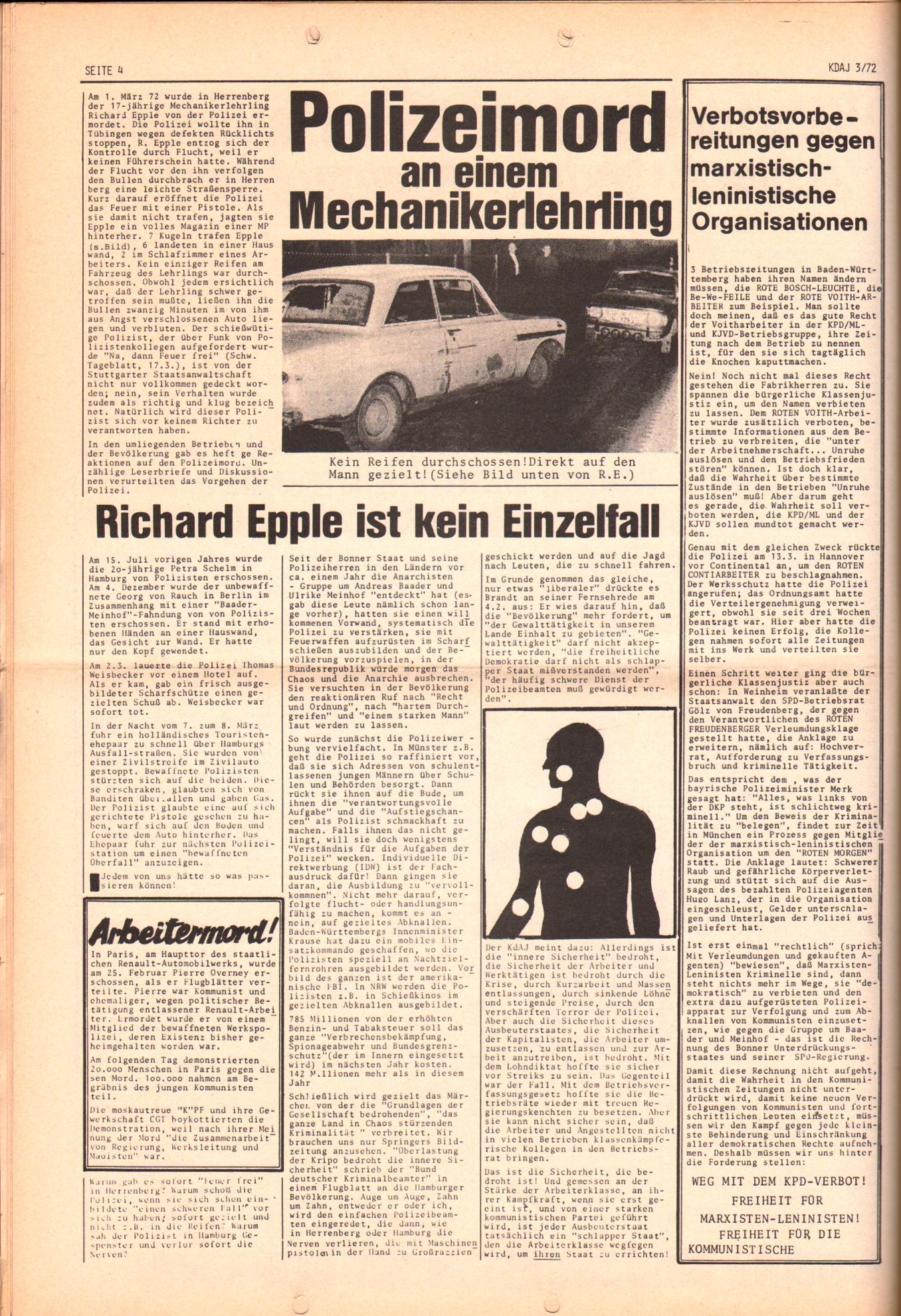 KDAJ, 3. Jg., April 1972, Nr. 3, Seite 4