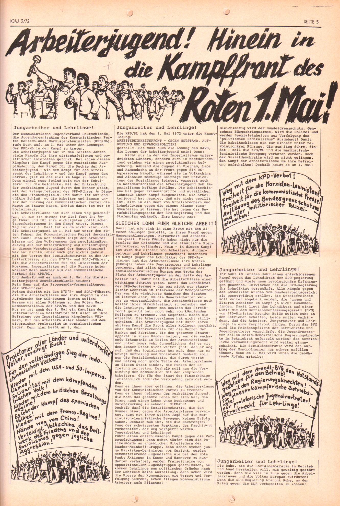 KDAJ, 3. Jg., April 1972, Nr. 3, Seite 5
