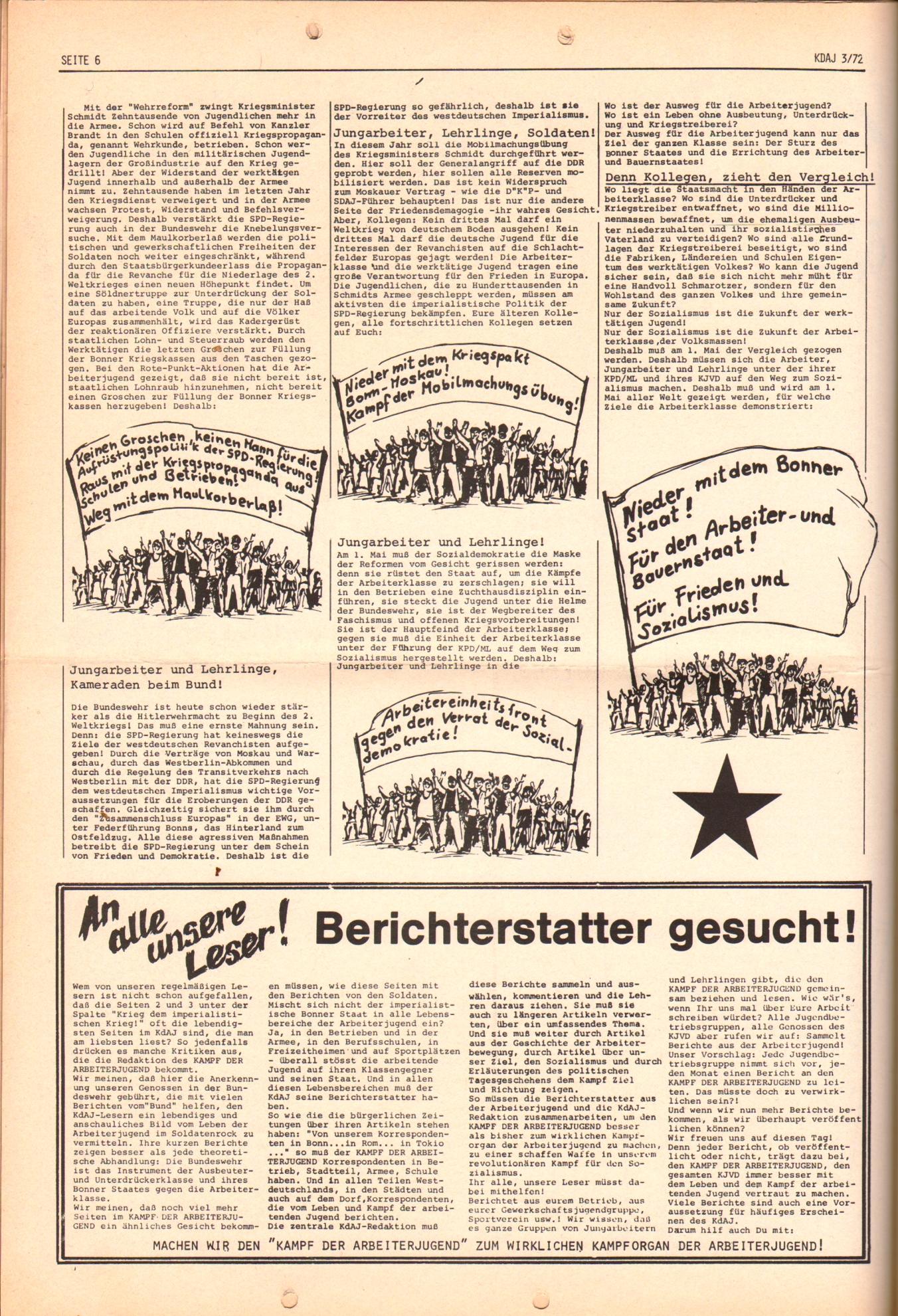 KDAJ, 3. Jg., April 1972, Nr. 3, Seite 6