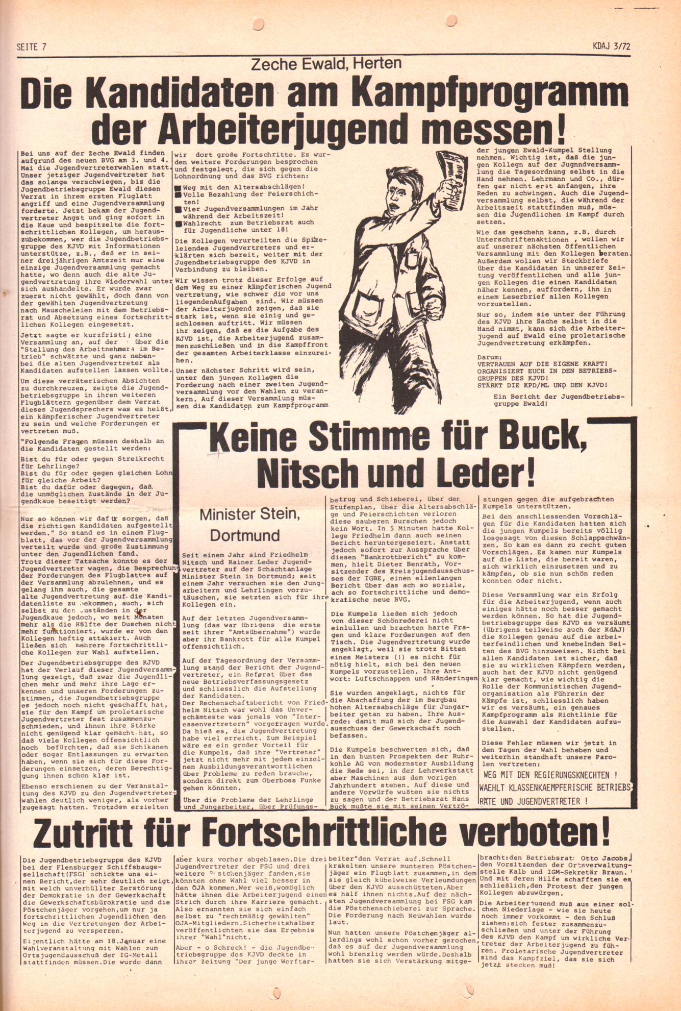 KDAJ, 3. Jg., April 1972, Nr. 3, Seite 7
