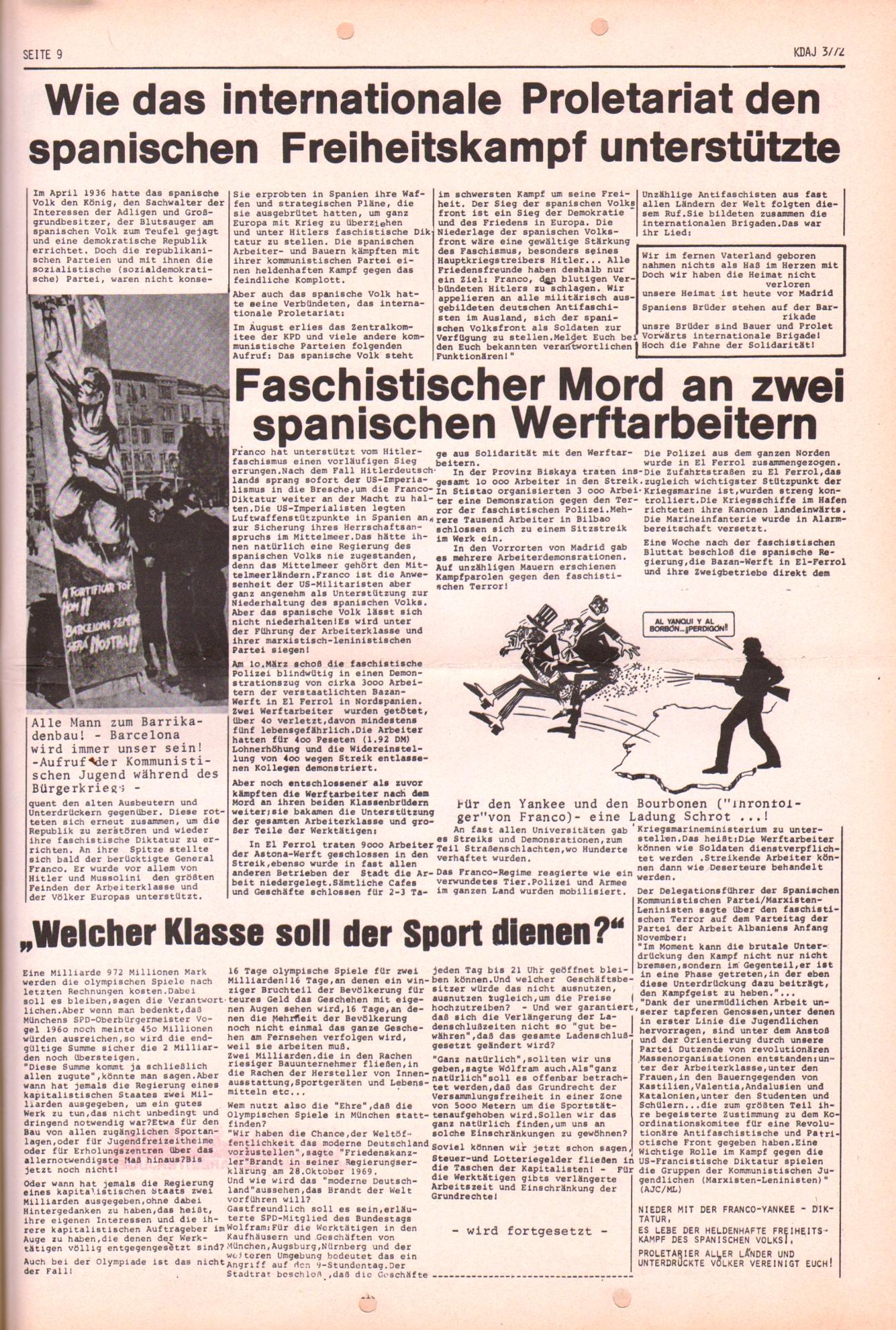 KDAJ, 3. Jg., April 1972, Nr. 3, Seite 9