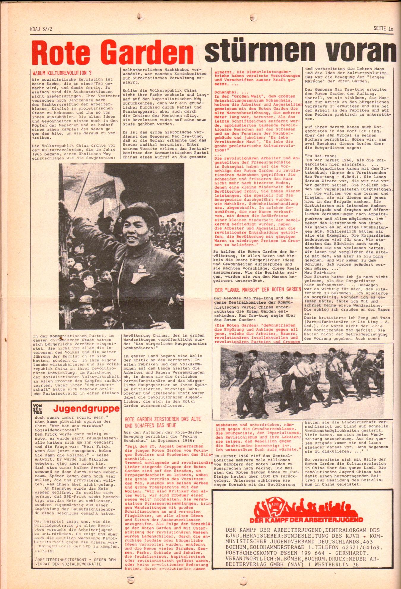 KDAJ, 3. Jg., April 1972, Nr. 3, Seite 10