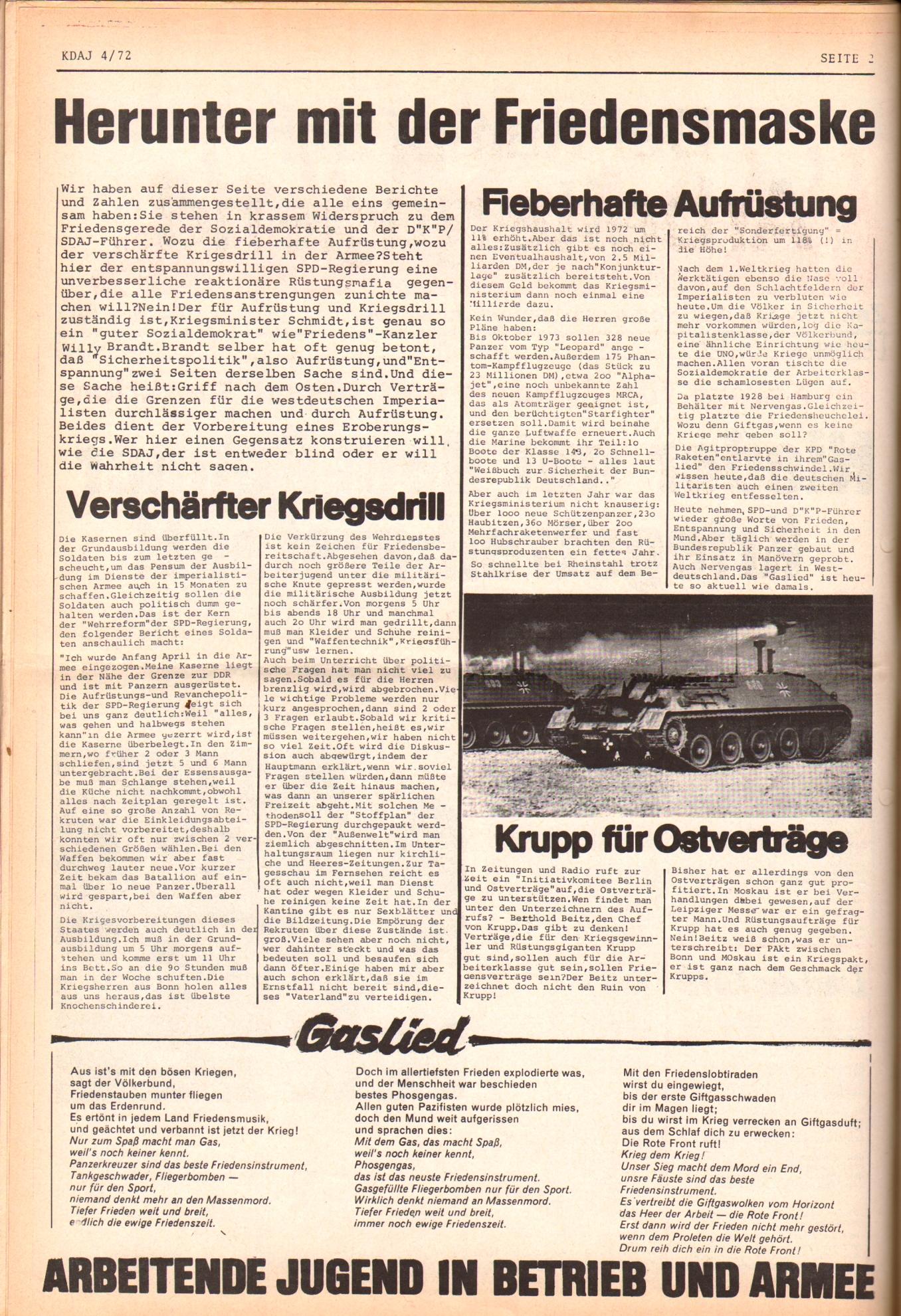 KDAJ, 3. Jg., Mai 1972, Nr. 4, Seite 2
