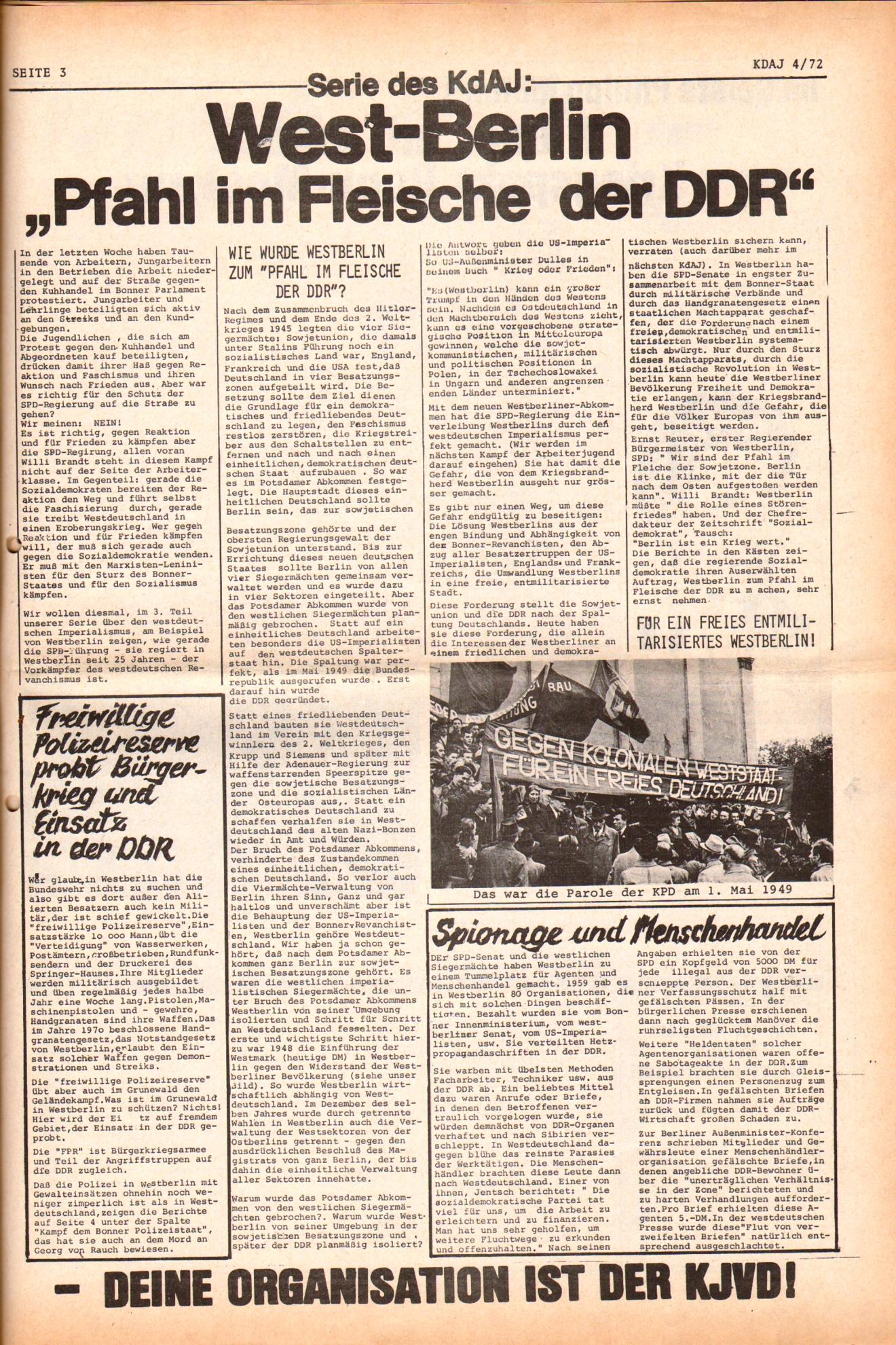 KDAJ, 3. Jg., Mai 1972, Nr. 4, Seite 3