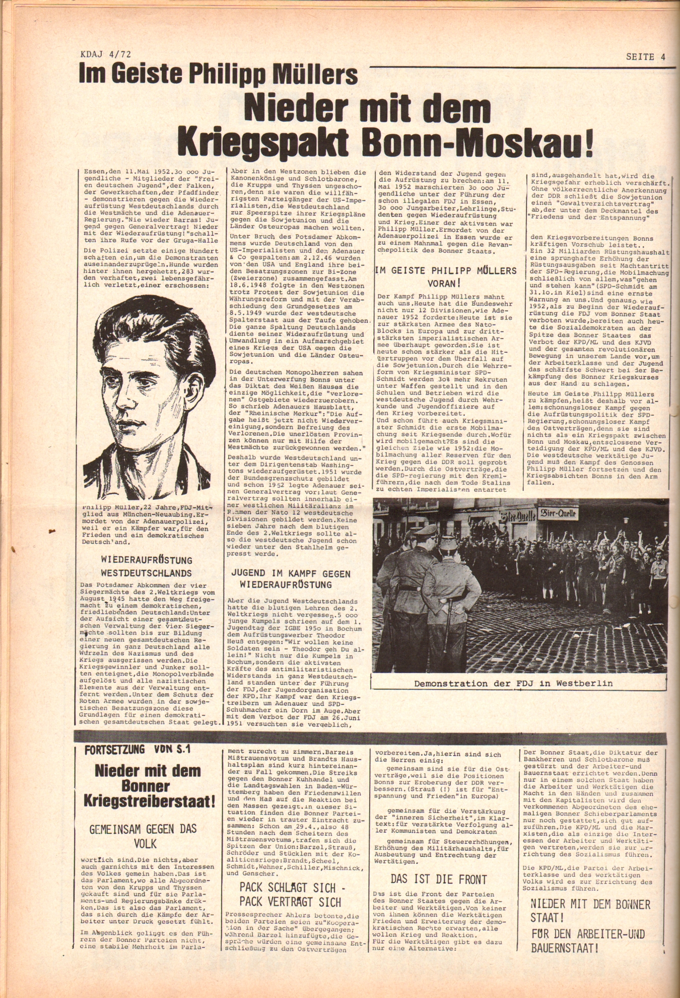 KDAJ, 3. Jg., Mai 1972, Nr. 4, Seite 4