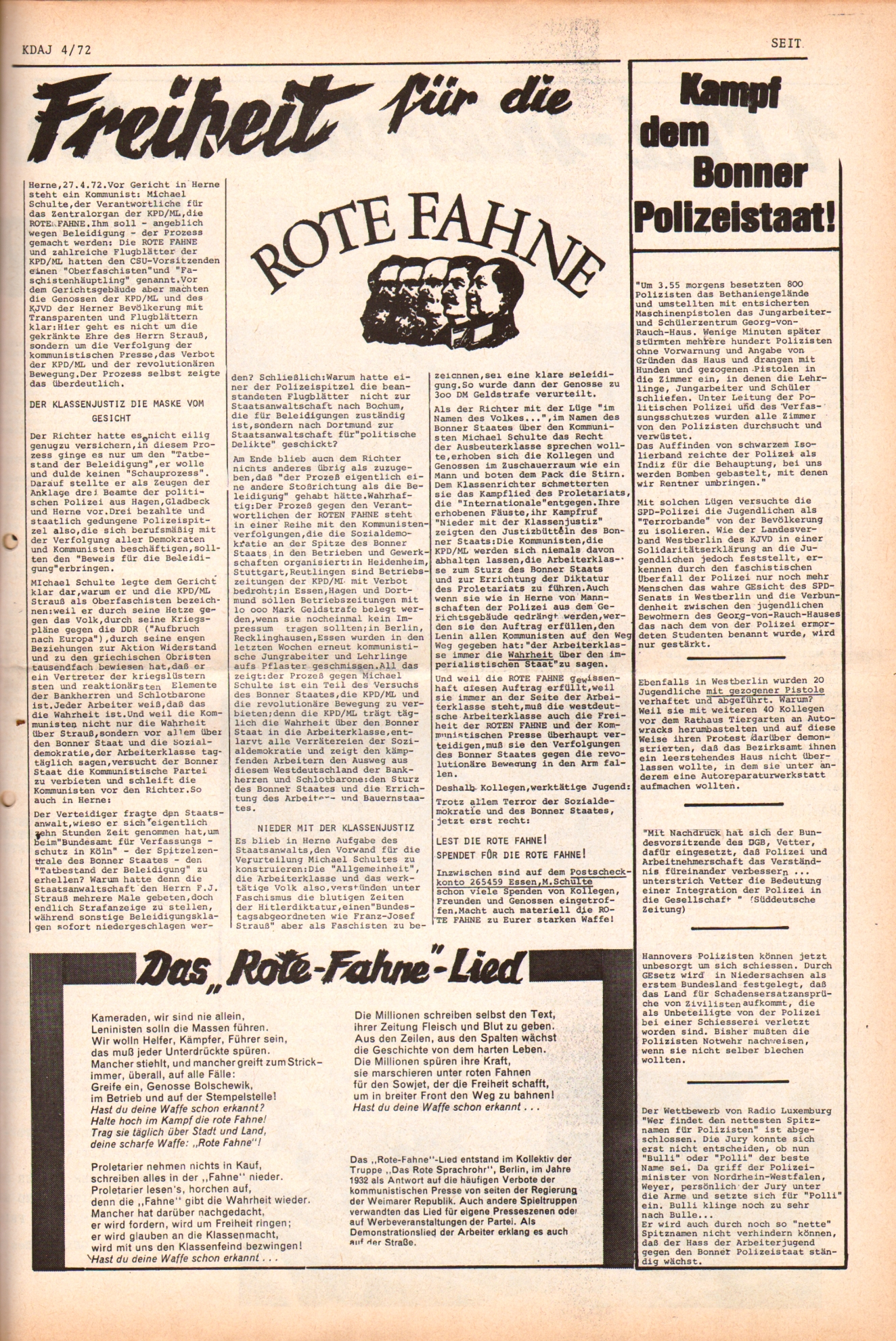 KDAJ, 3. Jg., Mai 1972, Nr. 4, Seite 5