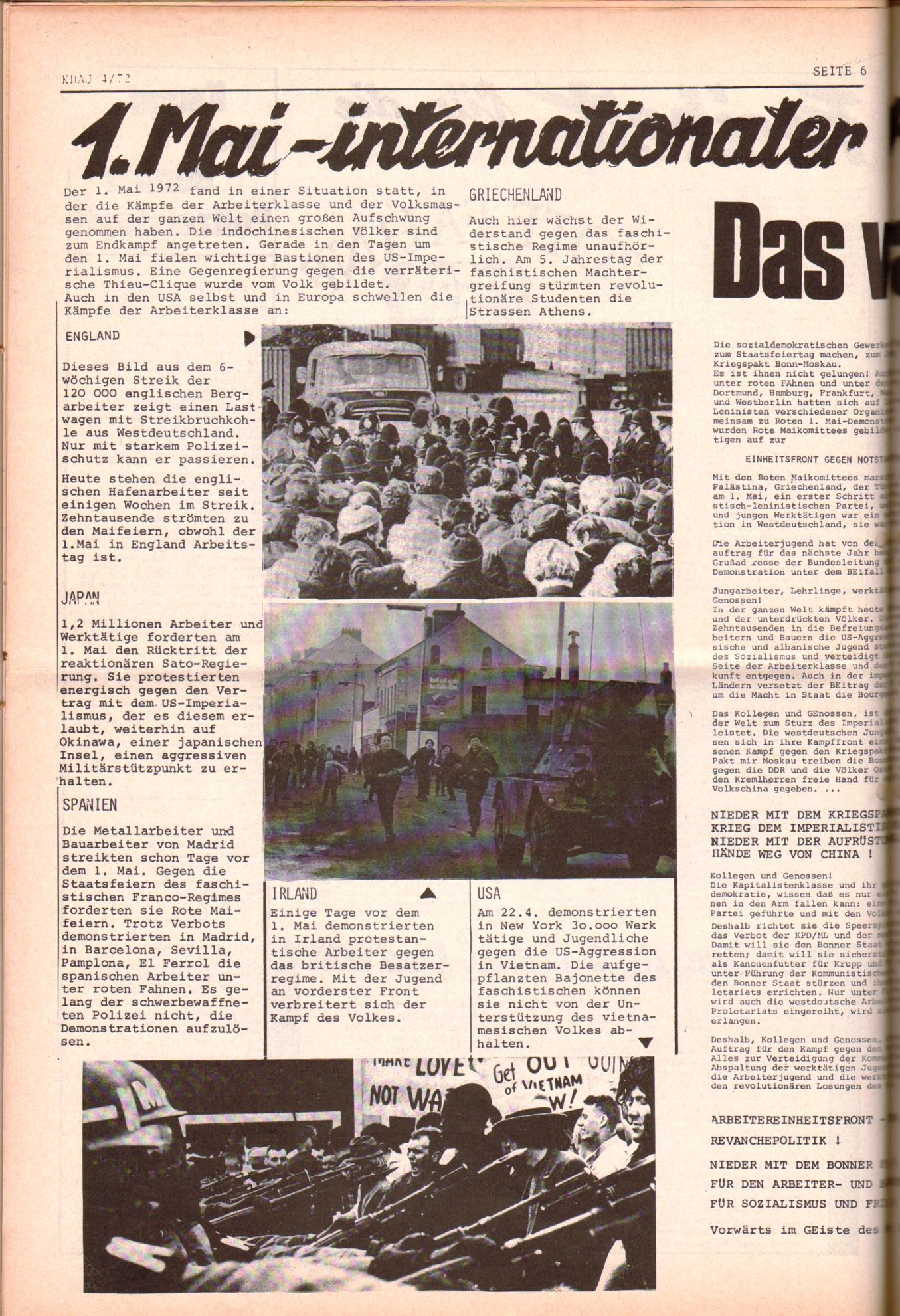 KDAJ, 3. Jg., Mai 1972, Nr. 4, Seite 6