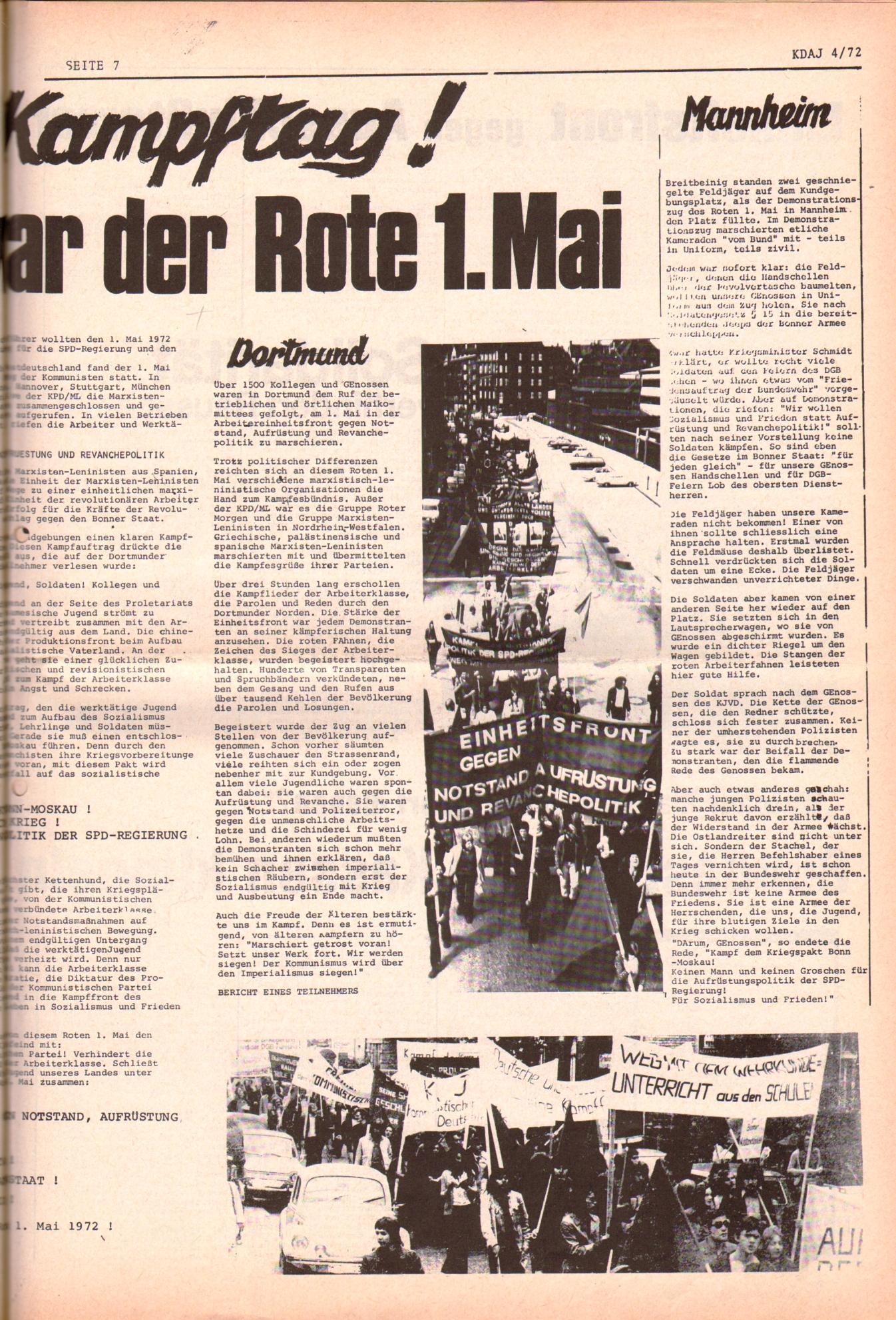 KDAJ, 3. Jg., Mai 1972, Nr. 4, Seite 7