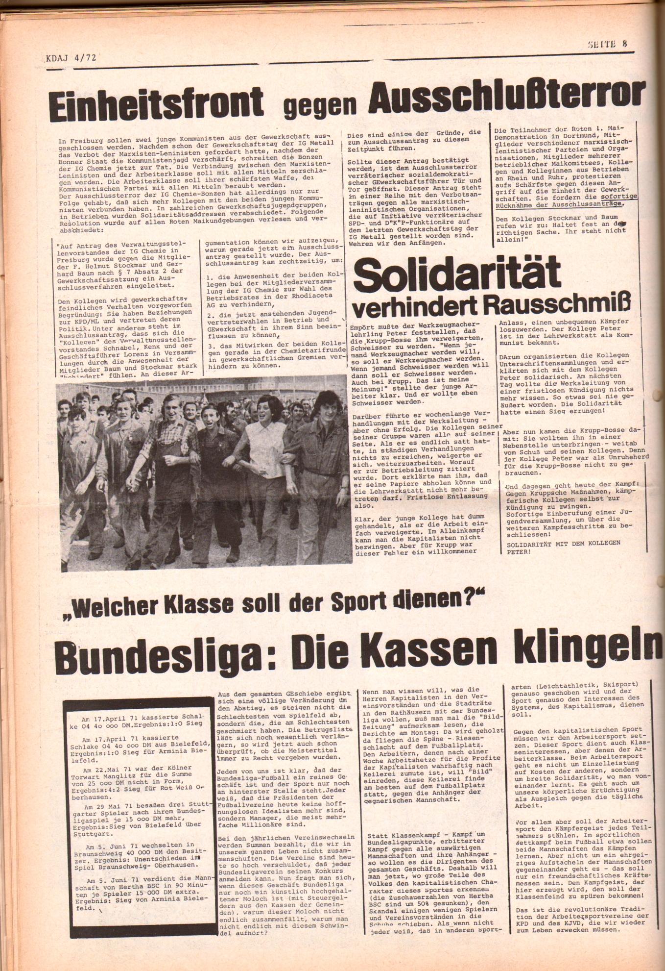 KDAJ, 3. Jg., Mai 1972, Nr. 4, Seite 8