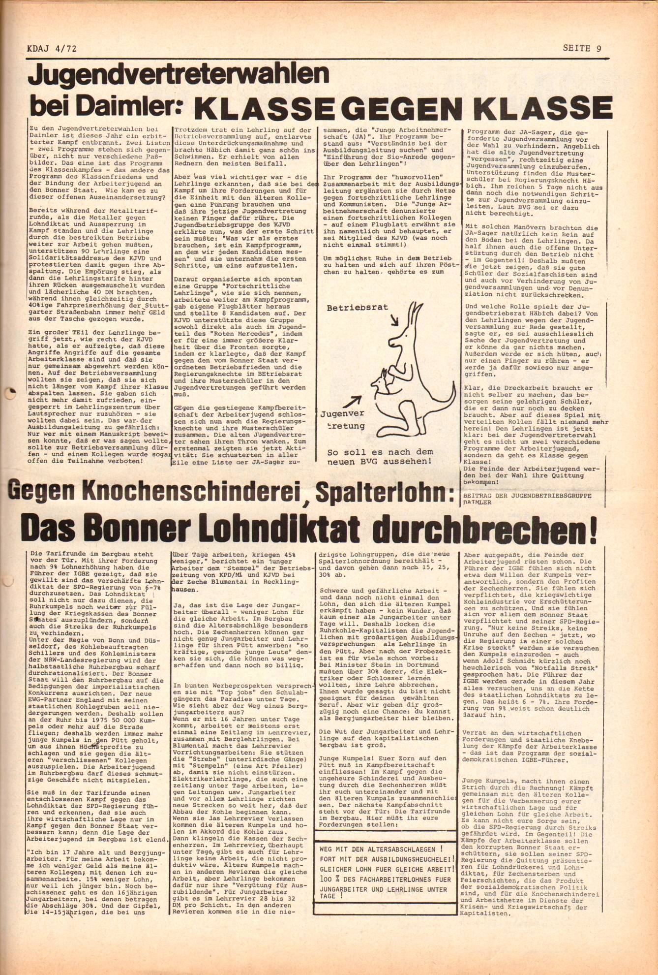 KDAJ, 3. Jg., Mai 1972, Nr. 4, Seite 9