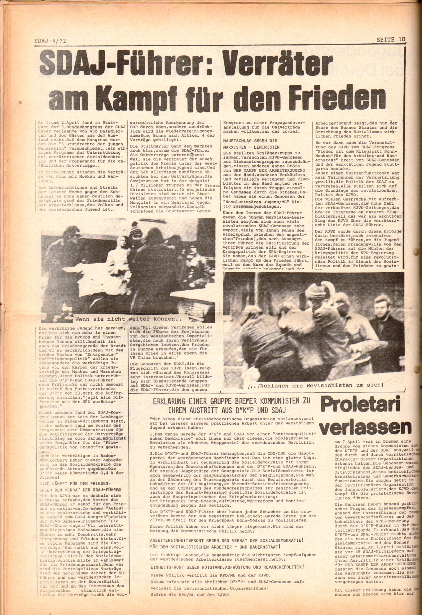 KDAJ, 3. Jg., Mai 1972, Nr. 4, Seite 10
