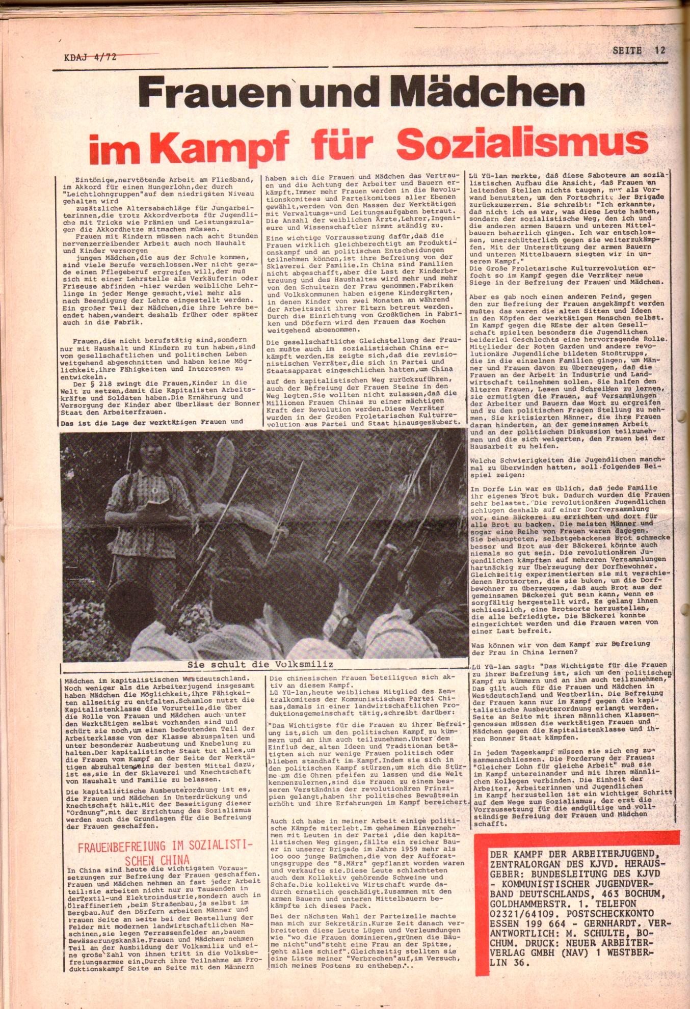 KDAJ, 3. Jg., Mai 1972, Nr. 4, Seite 12