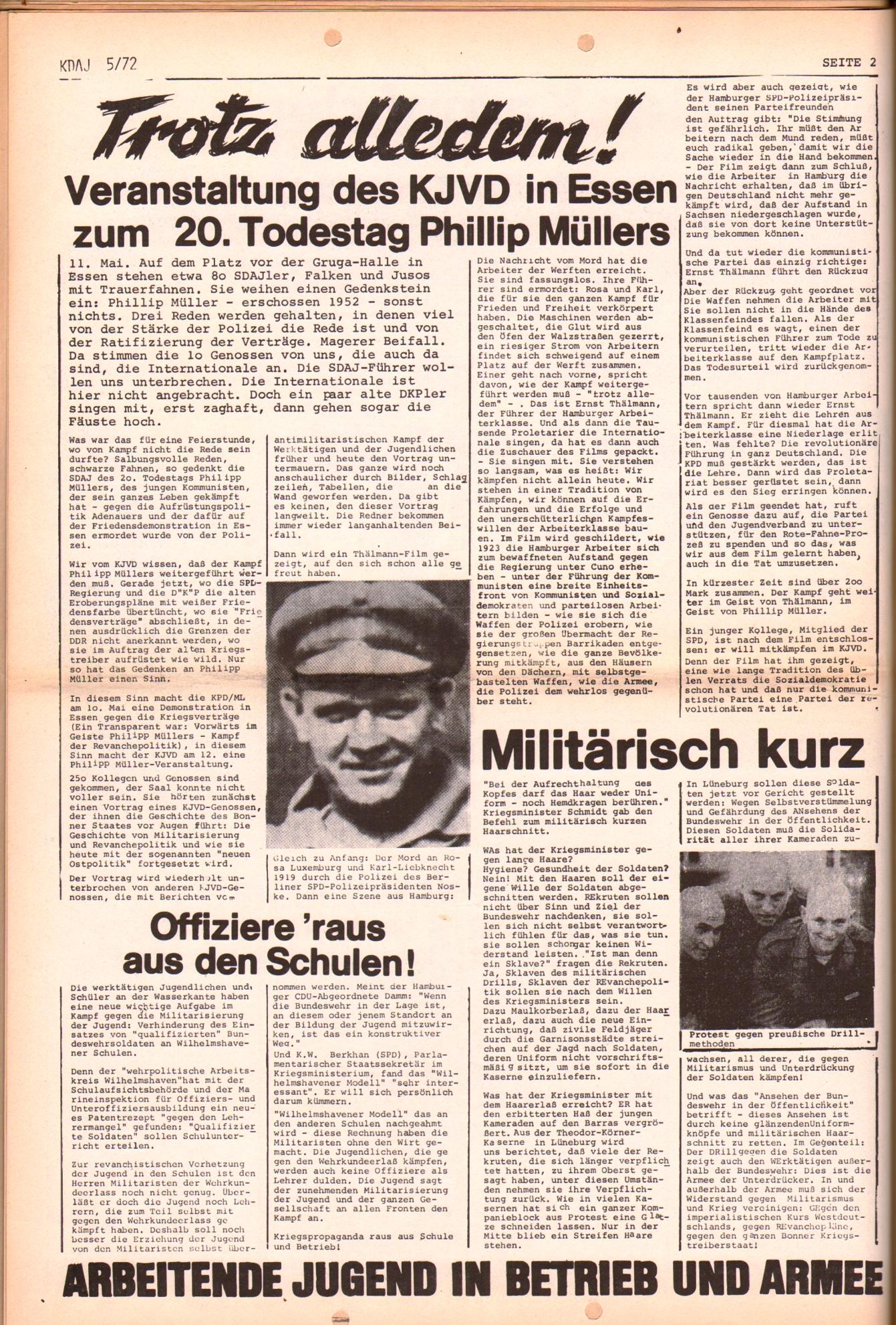 KDAJ, 3. Jg., Juni 1972, Nr. 5, Seite 2