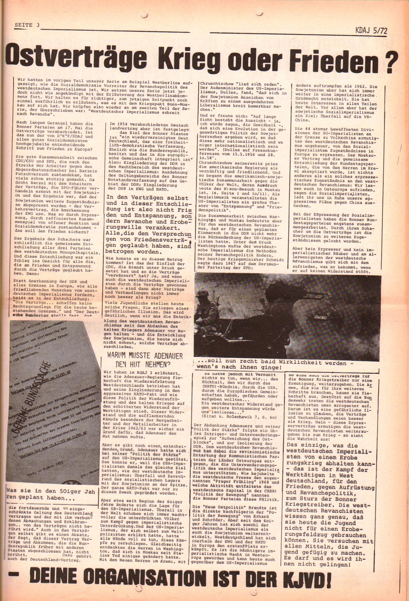 KDAJ, 3. Jg., Juni 1972, Nr. 5, Seite 3