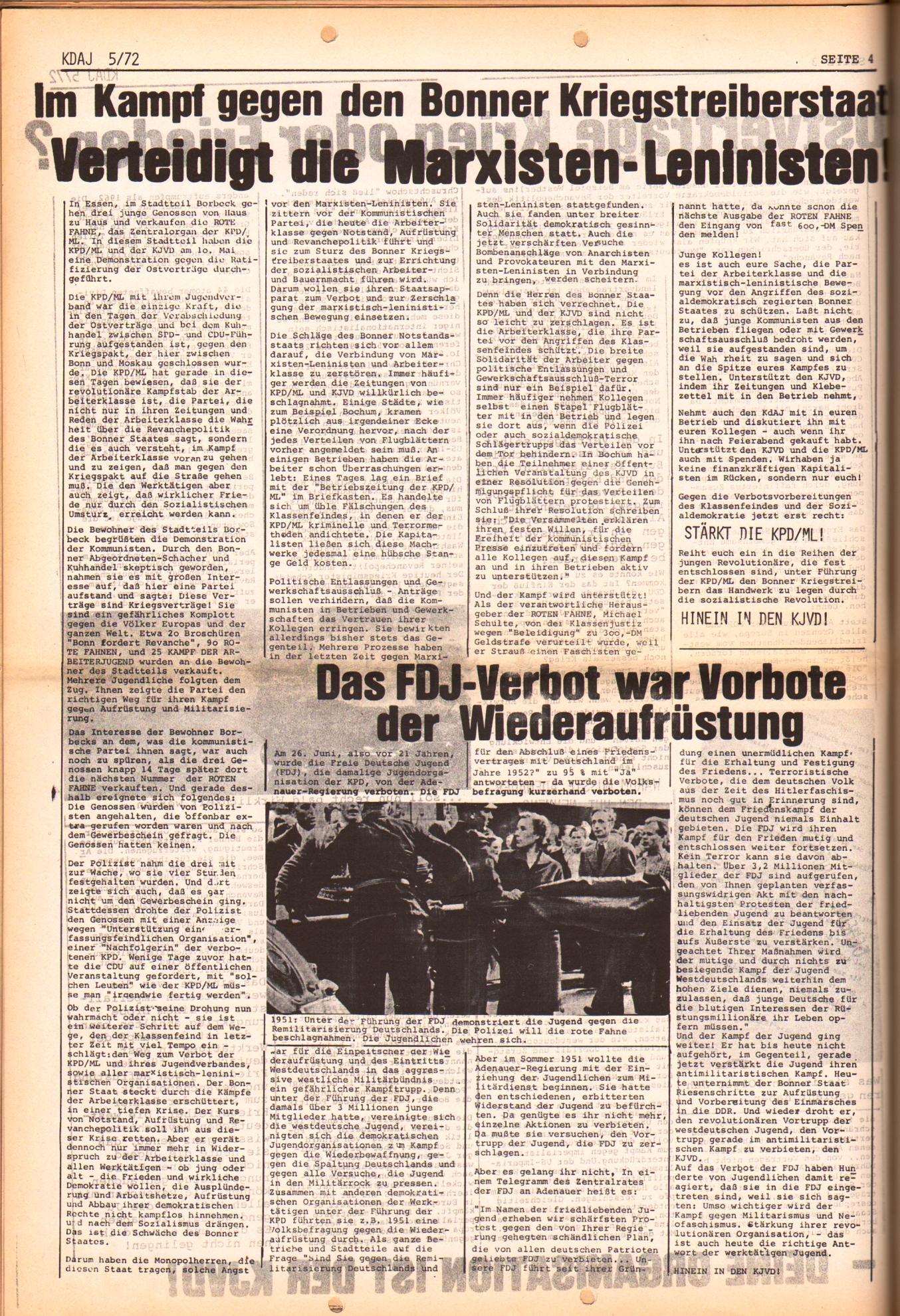KDAJ, 3. Jg., Juni 1972, Nr. 5, Seite 4