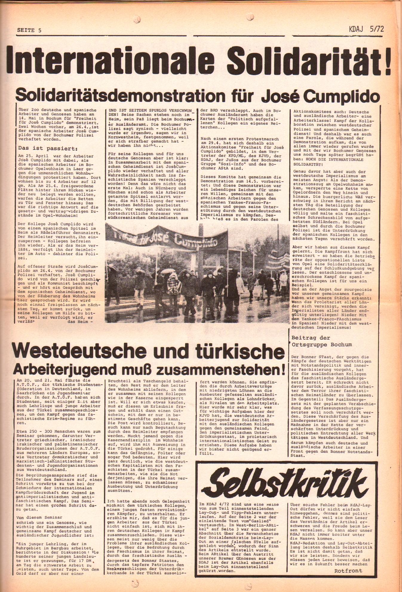 KDAJ, 3. Jg., Juni 1972, Nr. 5, Seite 5