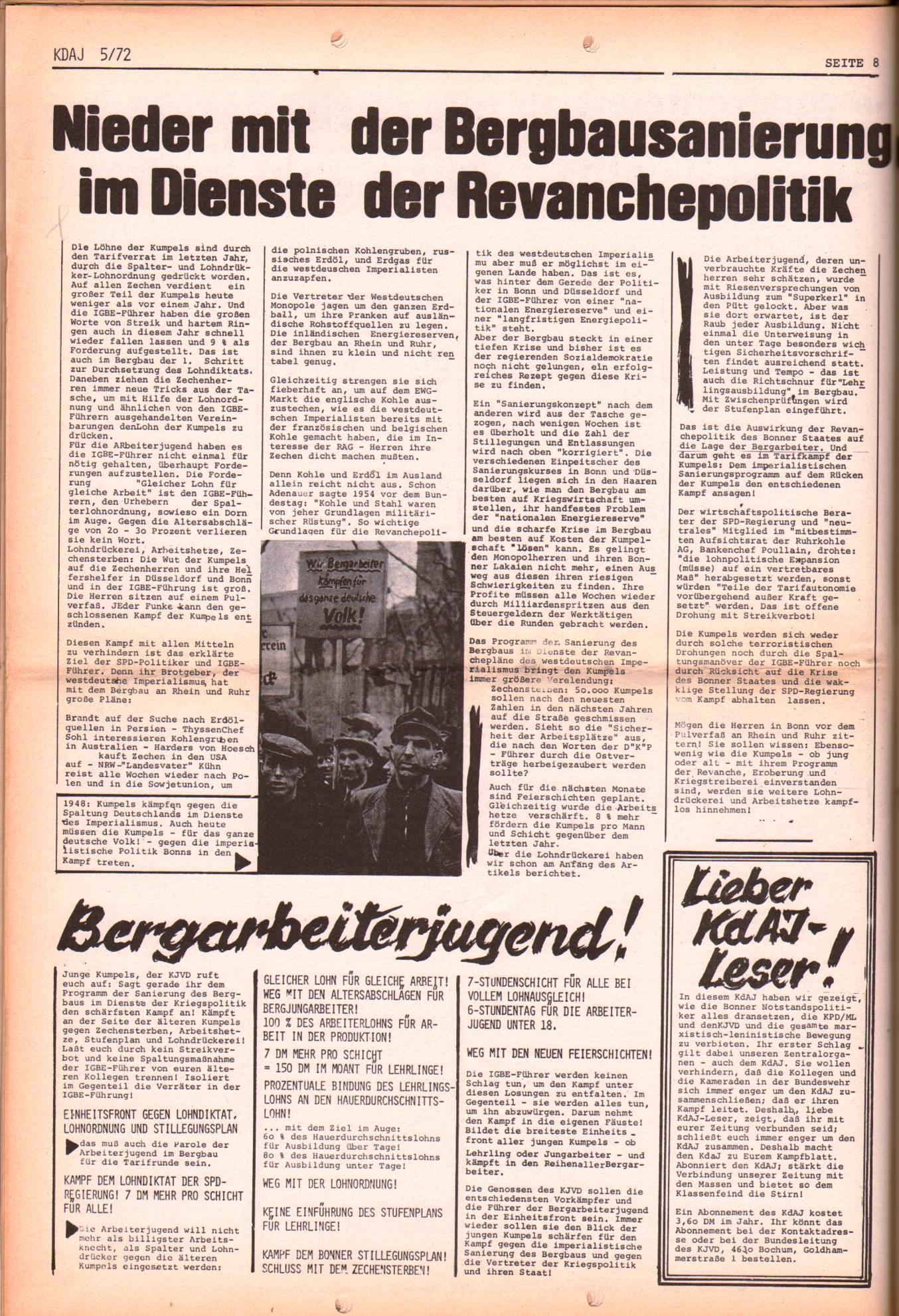 KDAJ, 3. Jg., Juni 1972, Nr. 5, Seite 8