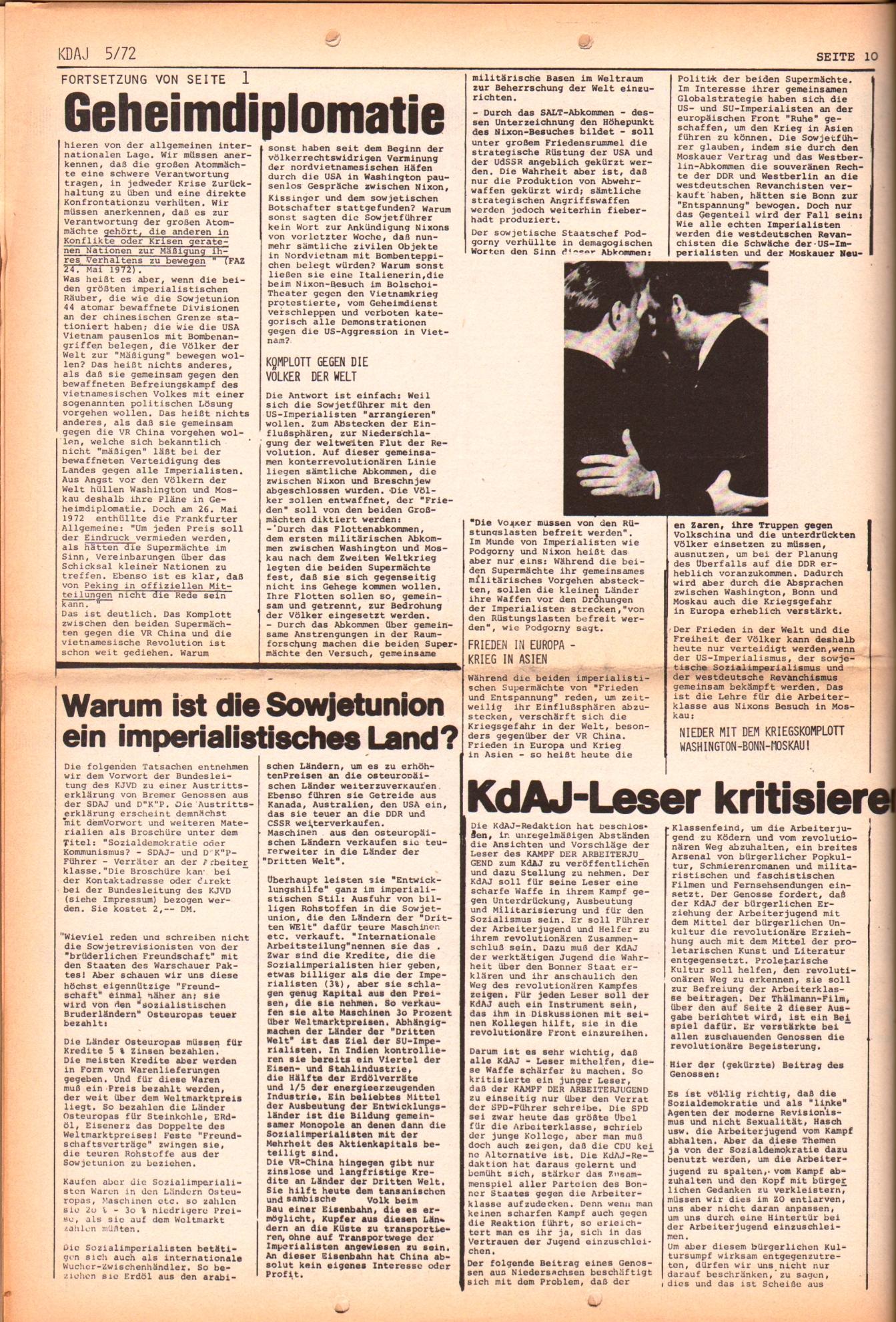 KDAJ, 3. Jg., Juni 1972, Nr. 5, Seite 10