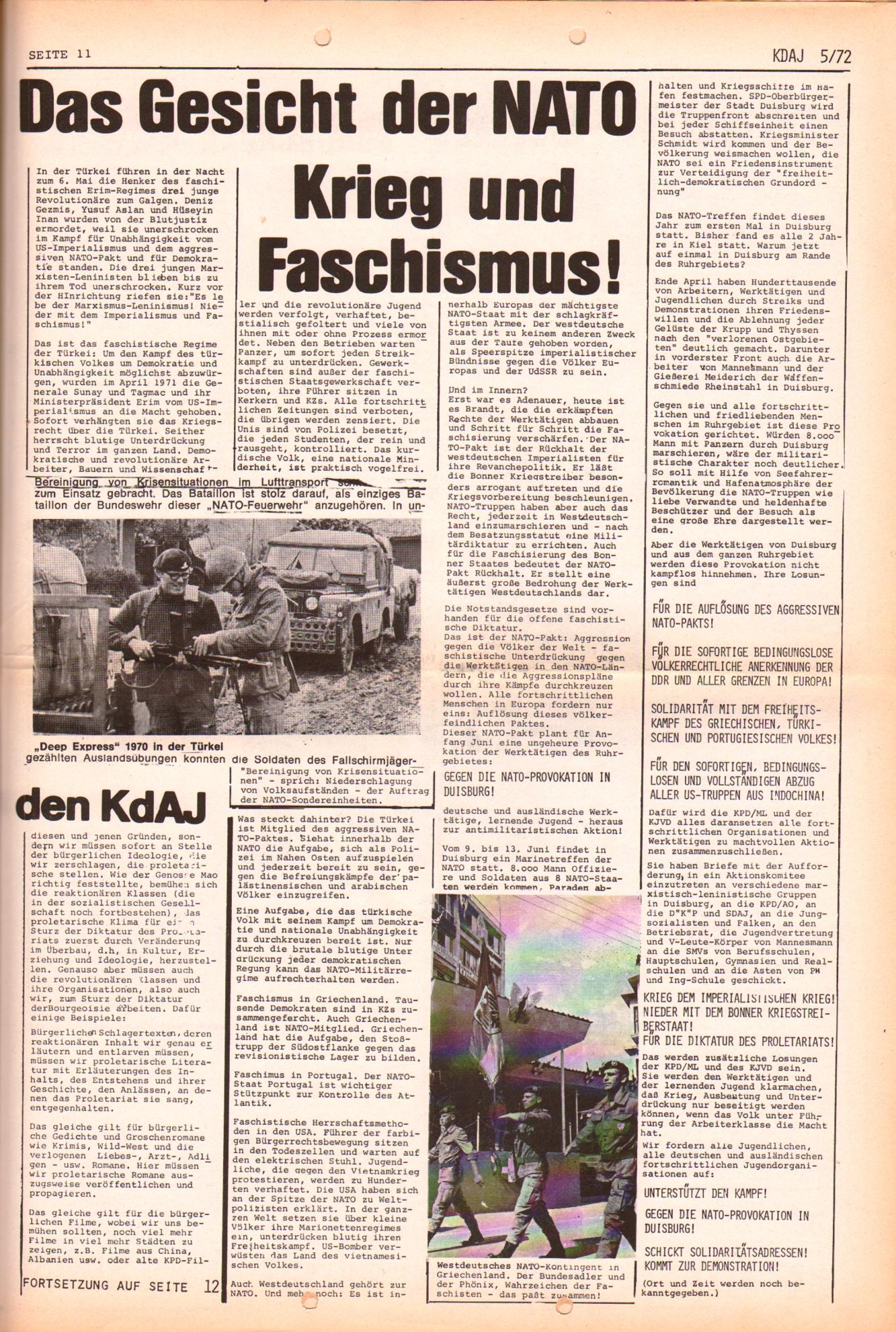 KDAJ, 3. Jg., Juni 1972, Nr. 5, Seite 11