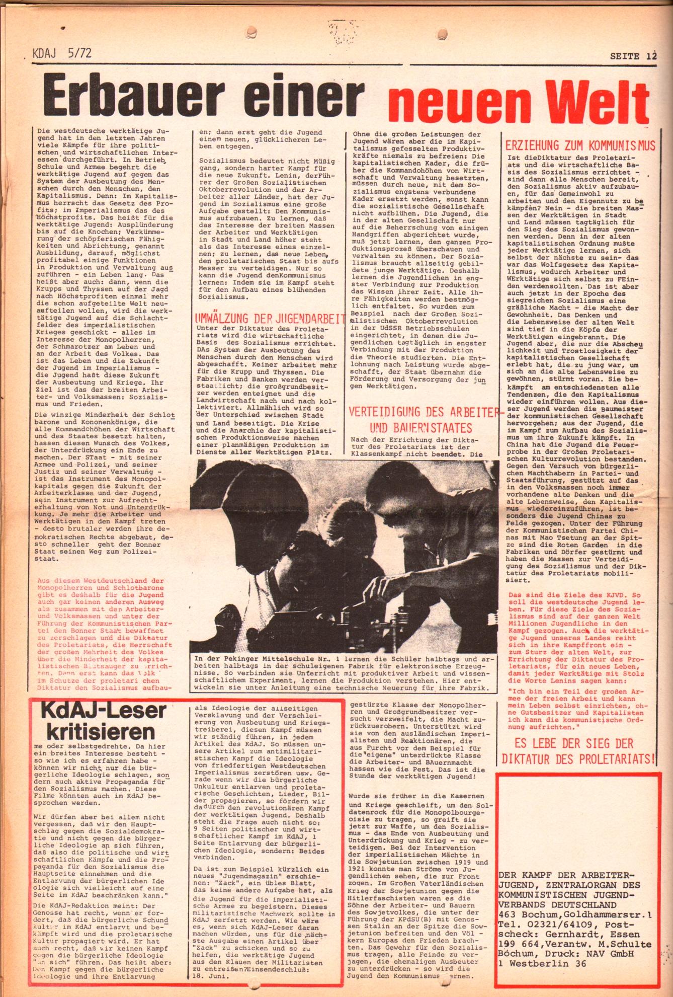 KDAJ, 3. Jg., Juni 1972, Nr. 5, Seite 12