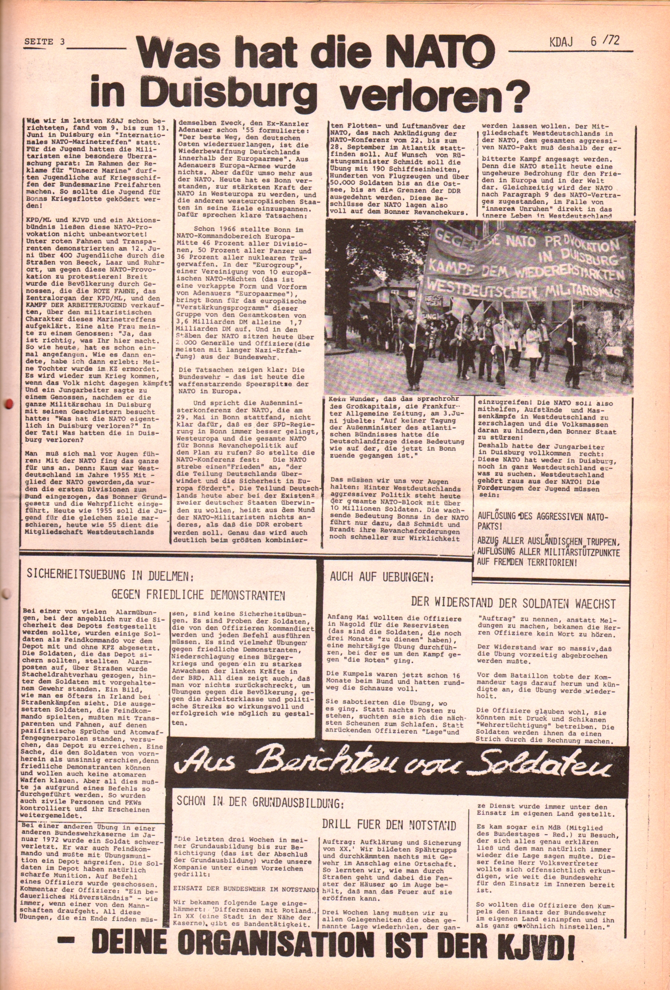 KDAJ, 3. Jg., Juli 1972, Nr. 6, Seite 3