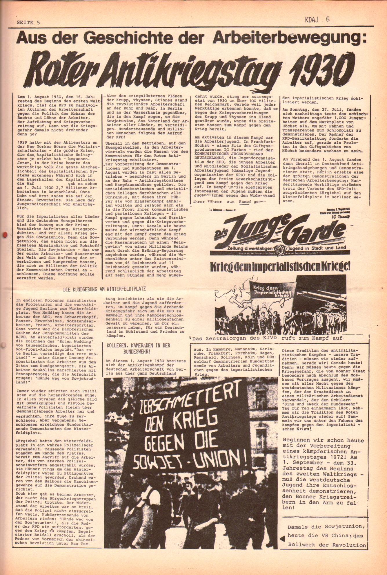KDAJ, 3. Jg., Juli 1972, Nr. 6, Seite 5