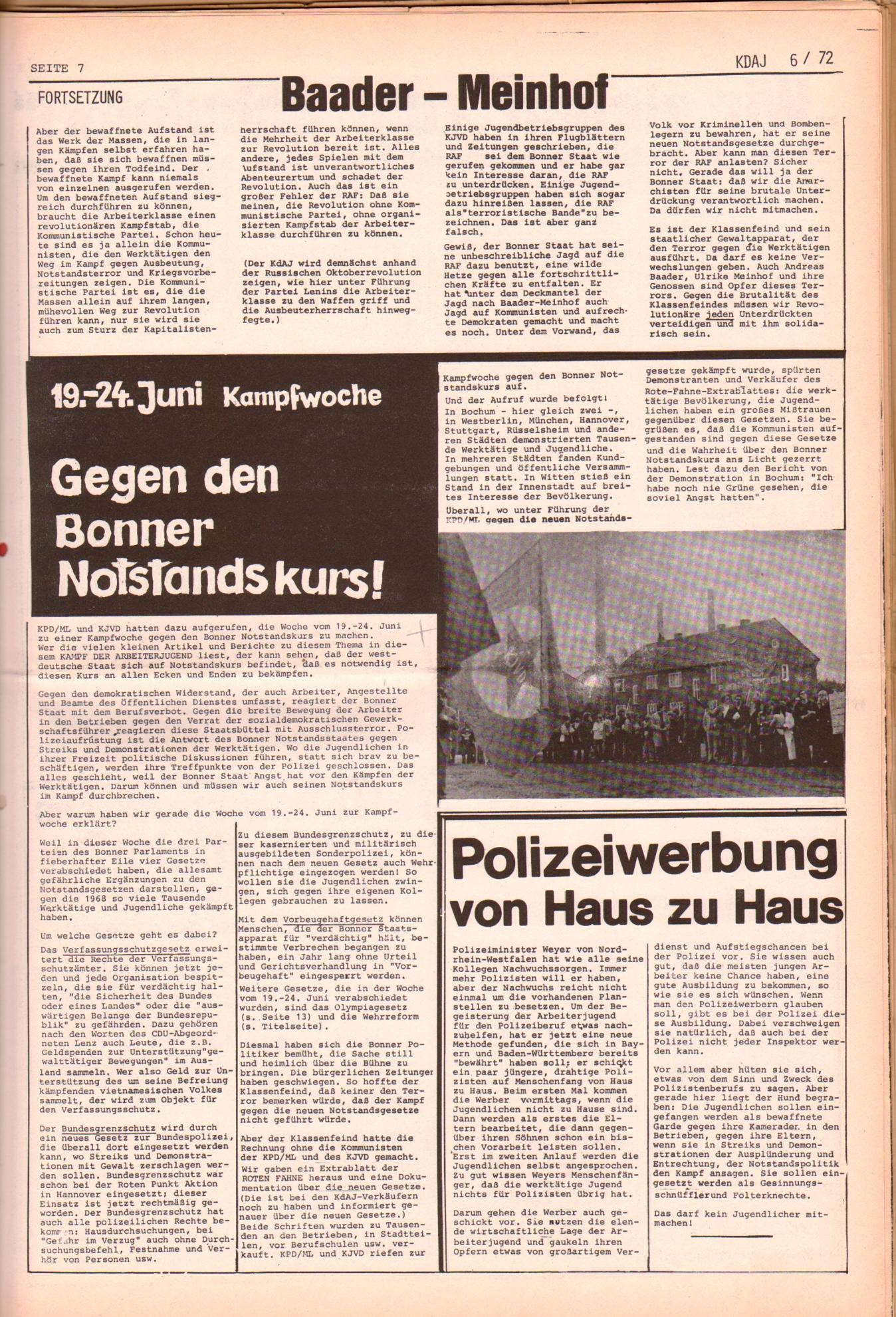 KDAJ, 3. Jg., Juli 1972, Nr. 6, Seite 7