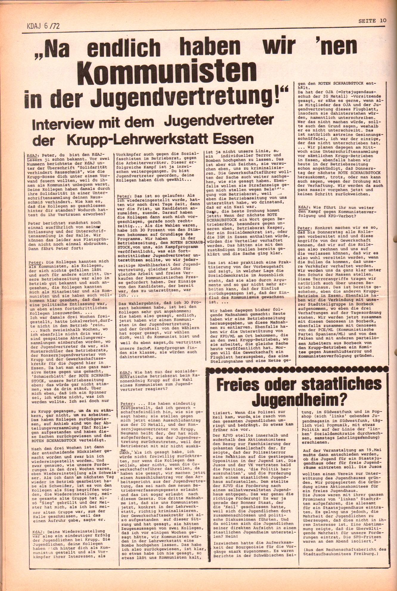 KDAJ, 3. Jg., Juli 1972, Nr. 6, Seite 10