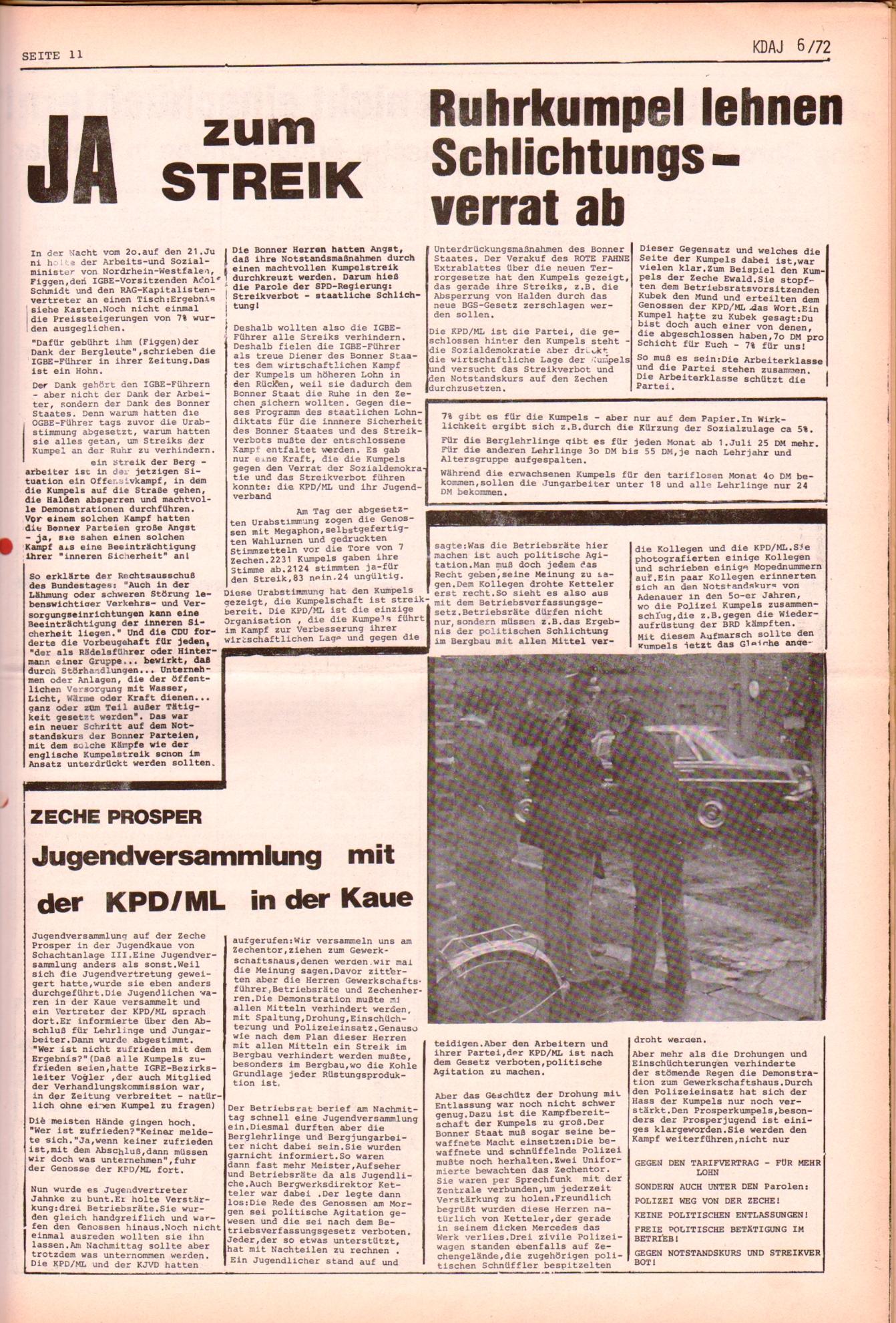 KDAJ, 3. Jg., Juli 1972, Nr. 6, Seite 11