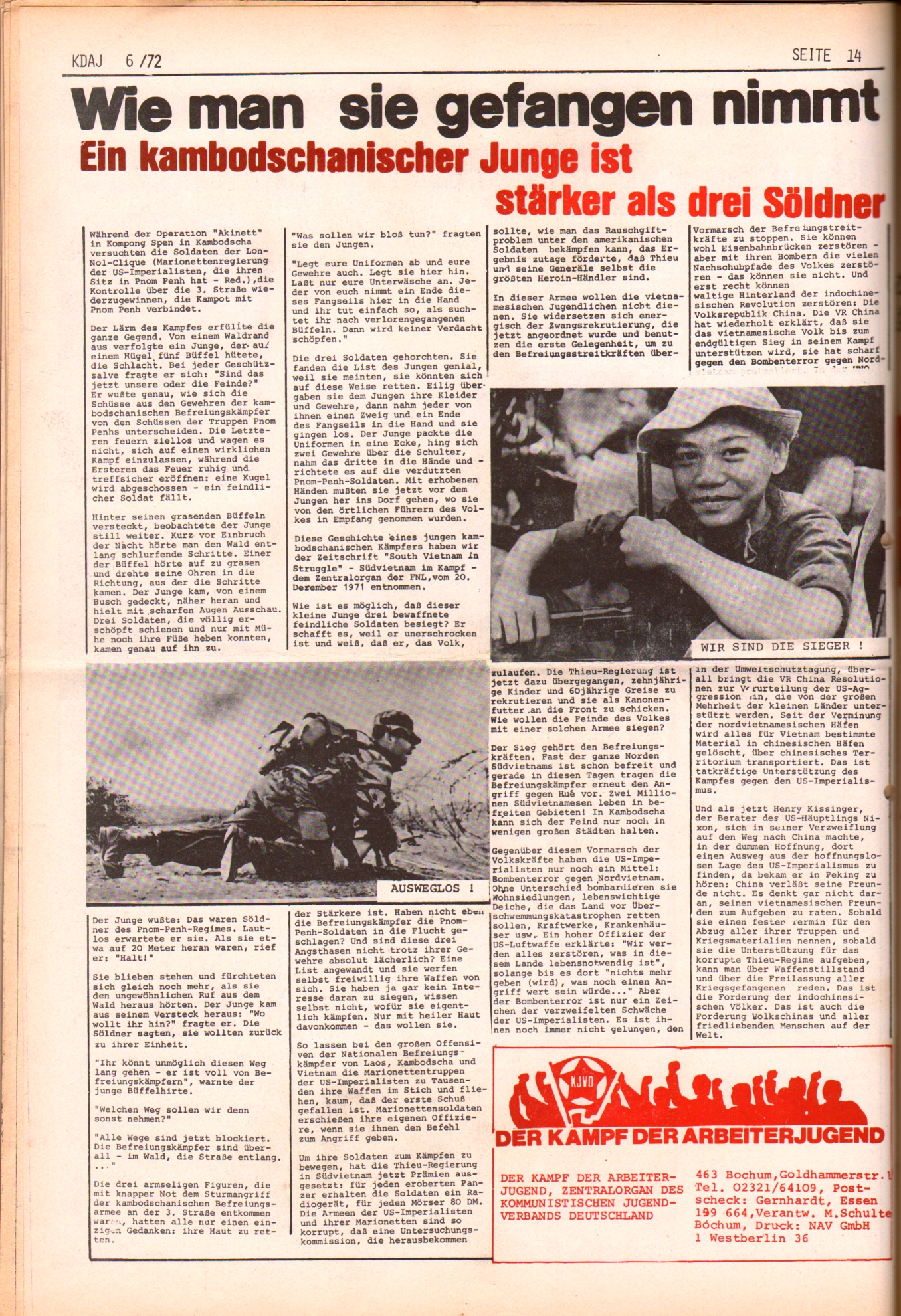 KDAJ, 3. Jg., Juli 1972, Nr. 6, Seite 14