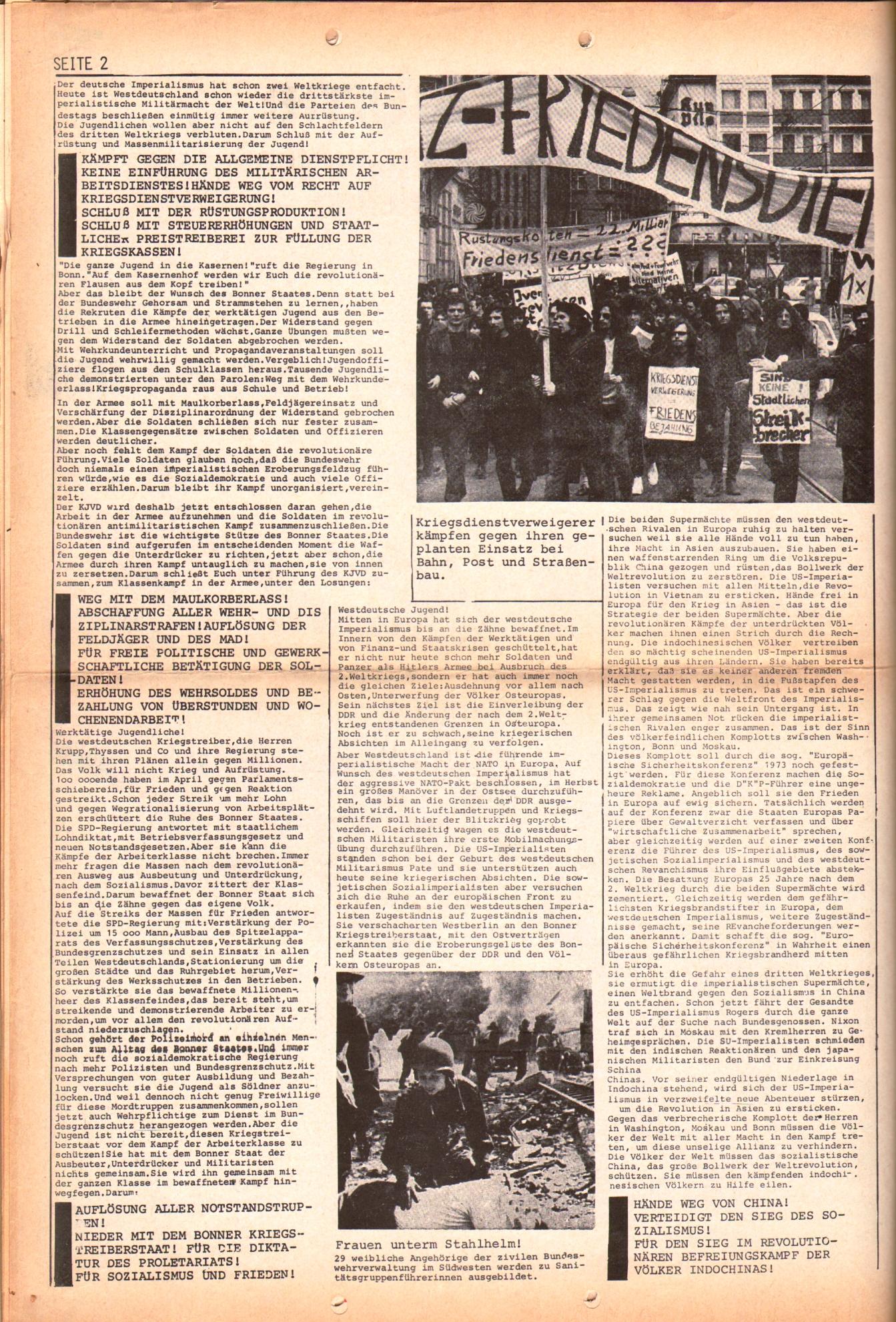 KDAJ, 3. Jg., Juli 1972, Extrablatt, Seite 2