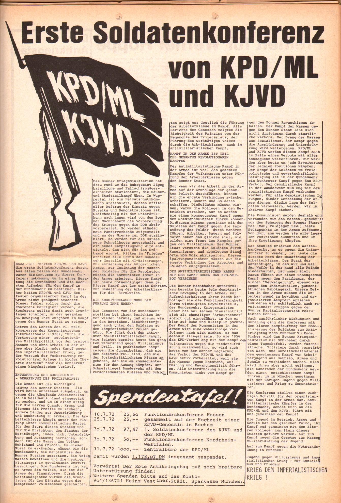 KDAJ, 3. Jg., August 1972, Nr. 7, Seite 5