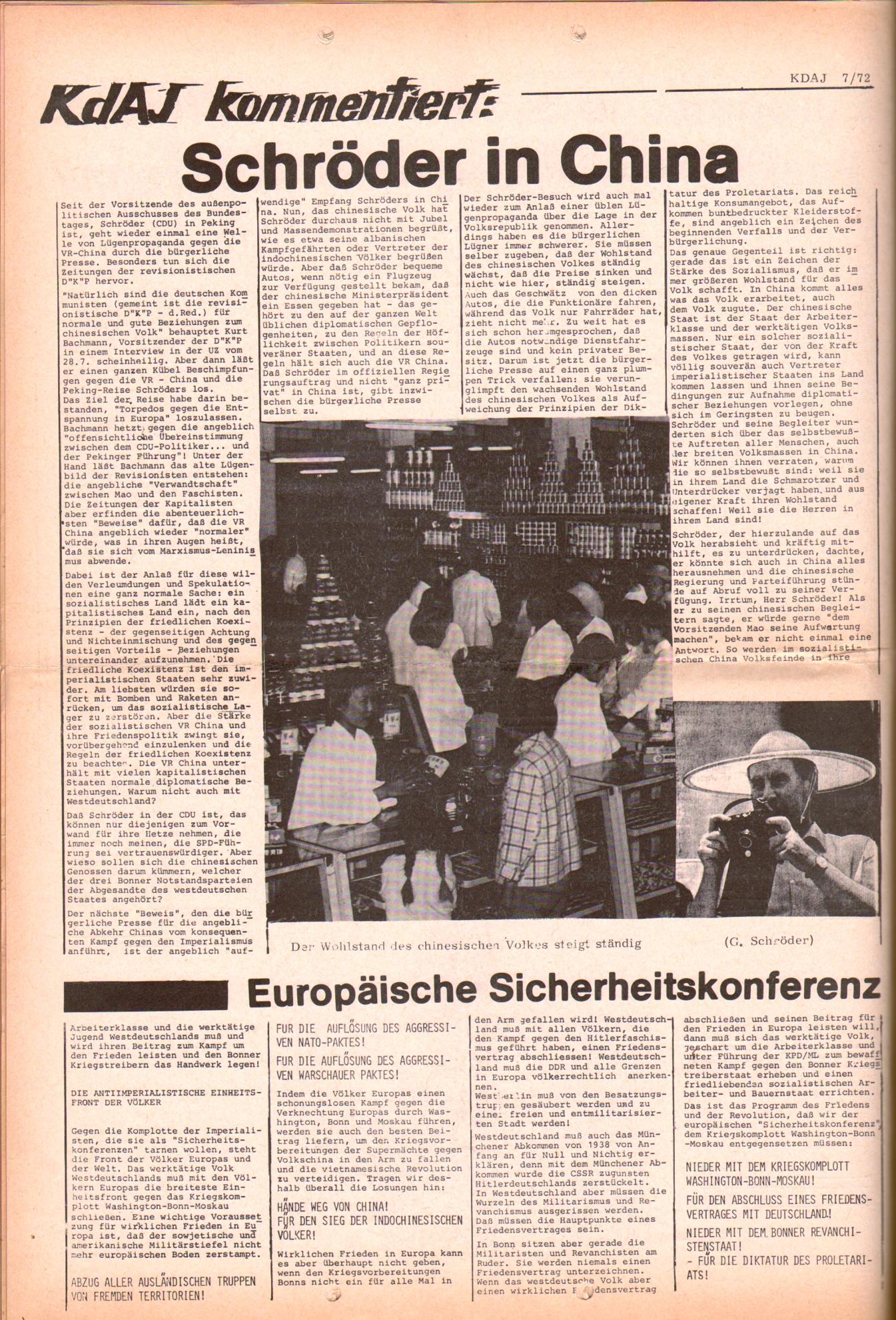 KDAJ, 3. Jg., August 1972, Nr. 7, Seite 12