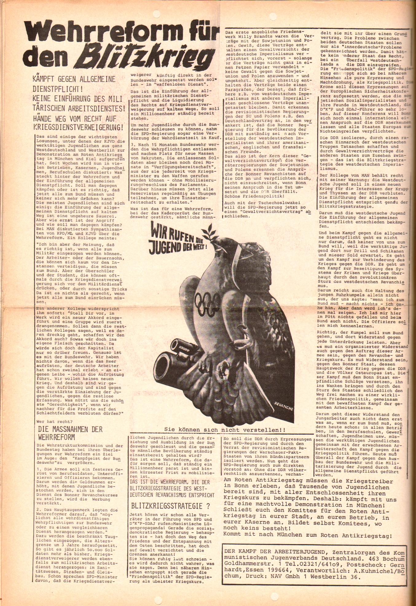 KDAJ, 3. Jg., August 1972, Extrablatt, Seite 2